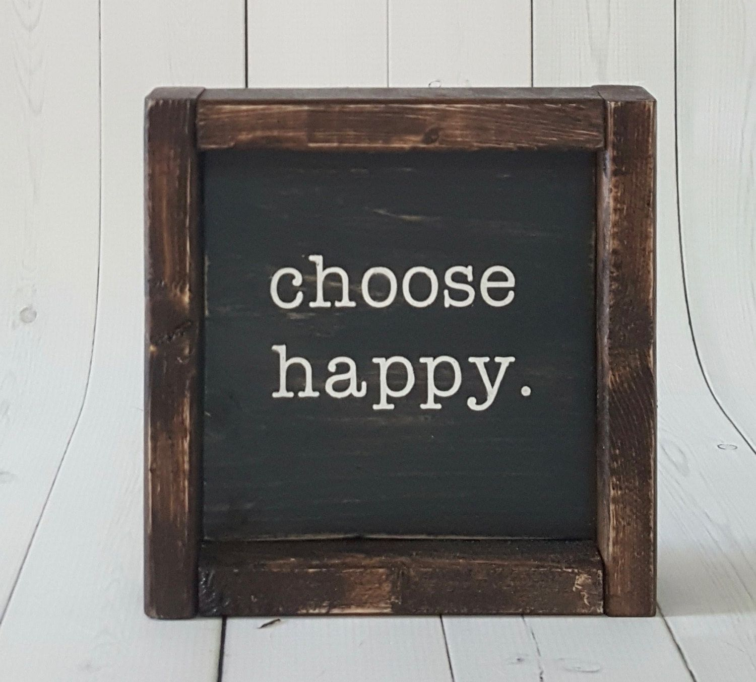 Choose Happy - Choose Happy Sign - Farmhouse Mini Sign inside Choose Happy Wood Wall Decor (Image 8 of 30)