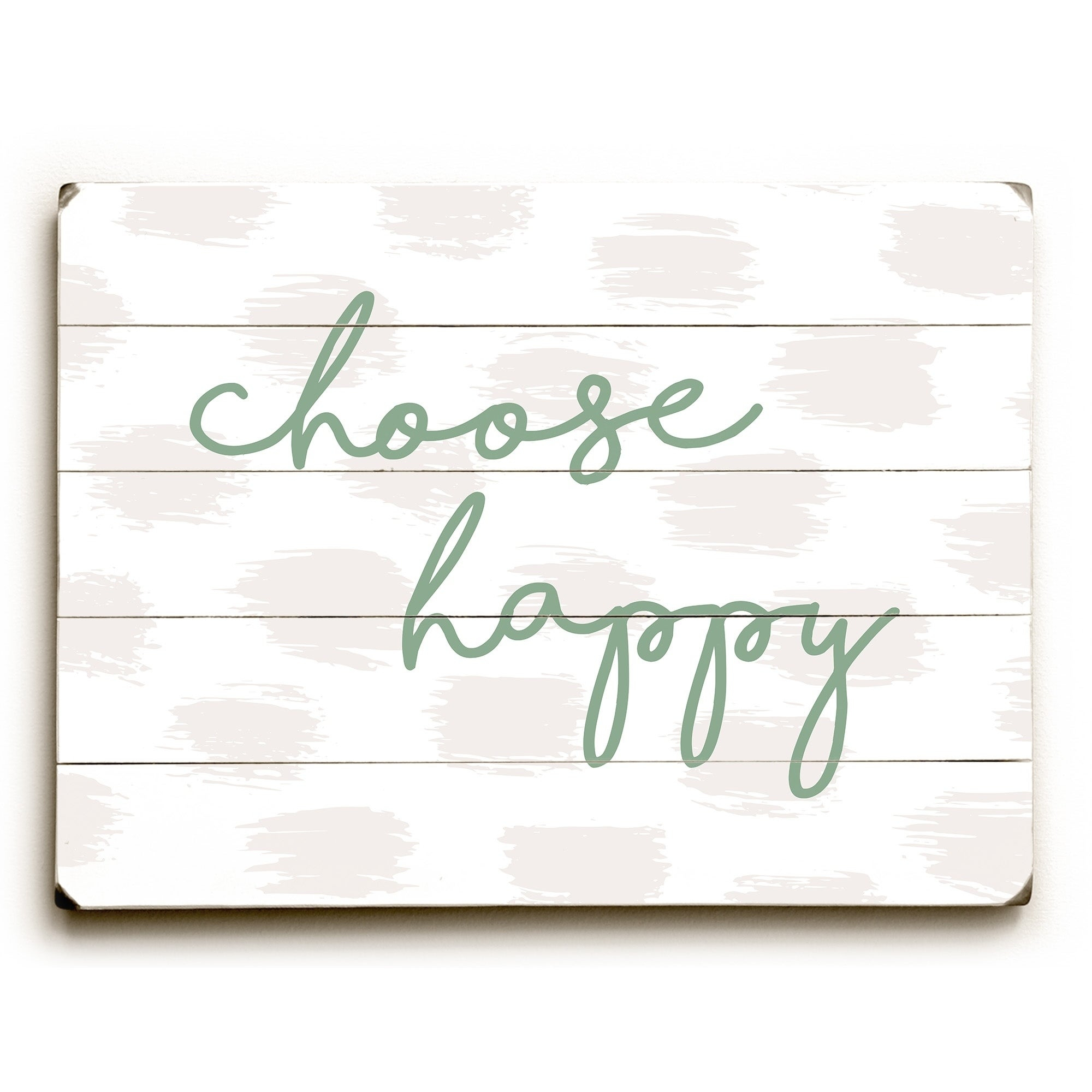 Choose Happy Green - Green Planked Wood Wall Decorobc for Choose Happy Wood Wall Decor (Image 12 of 30)
