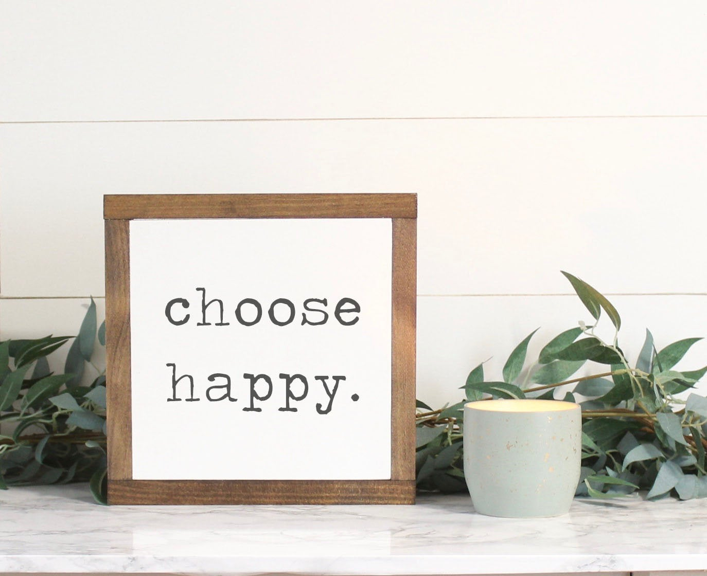 Choose Happy Wood Sign, Farmhouse Sign, Rustic Home Decor, Inspirational  Decor, Wood Wall Art, Family Sign, Mini Sign regarding Choose Happy Wood Wall Decor (Image 16 of 30)