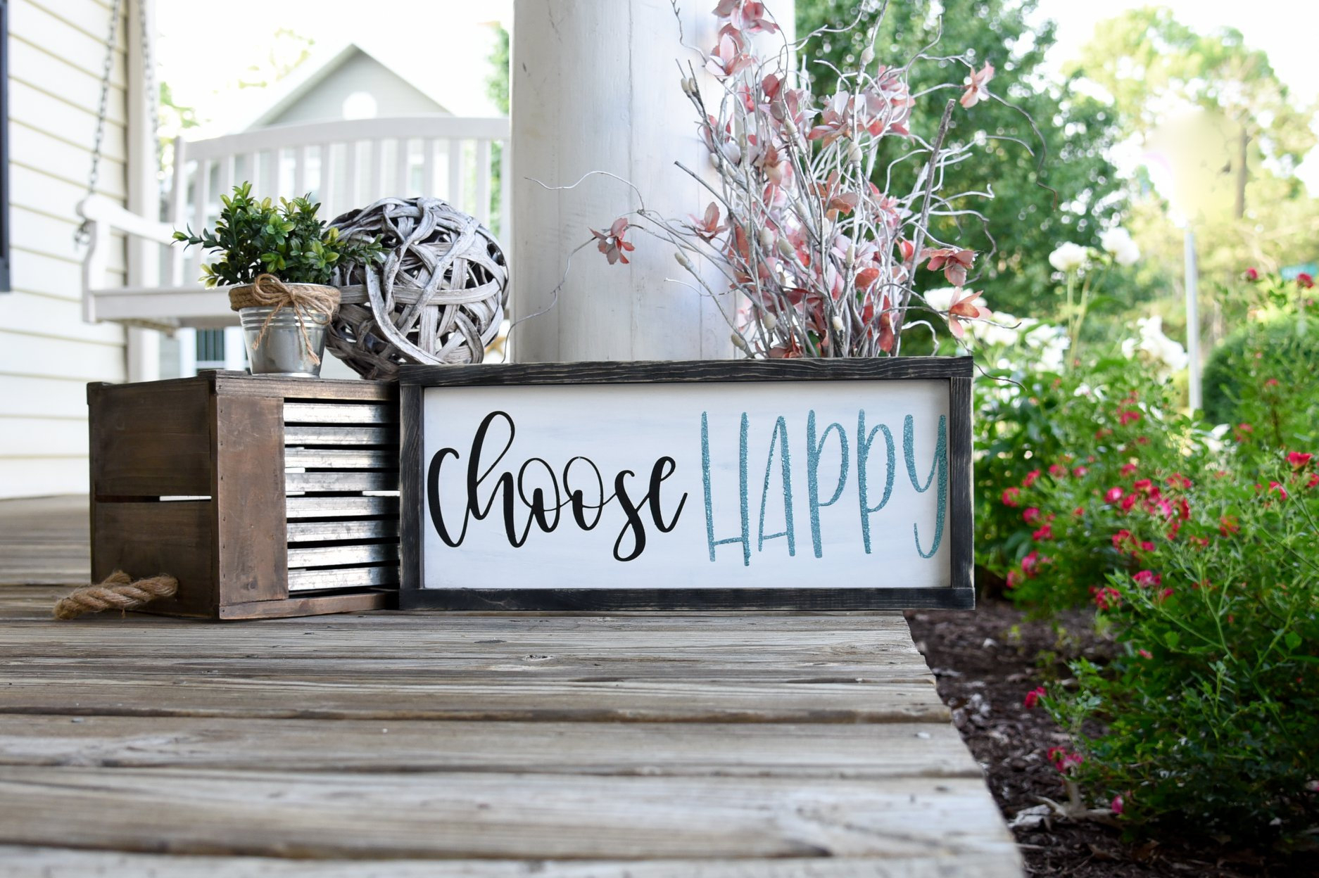Choose Happy Wood Sign I Choose Happy I Bathroom Sign I Bathroom Decor I  Wood Sign I Wood Decor I Wall Hangings I Wall Art with regard to Choose Happy Wood Wall Decor (Image 15 of 30)