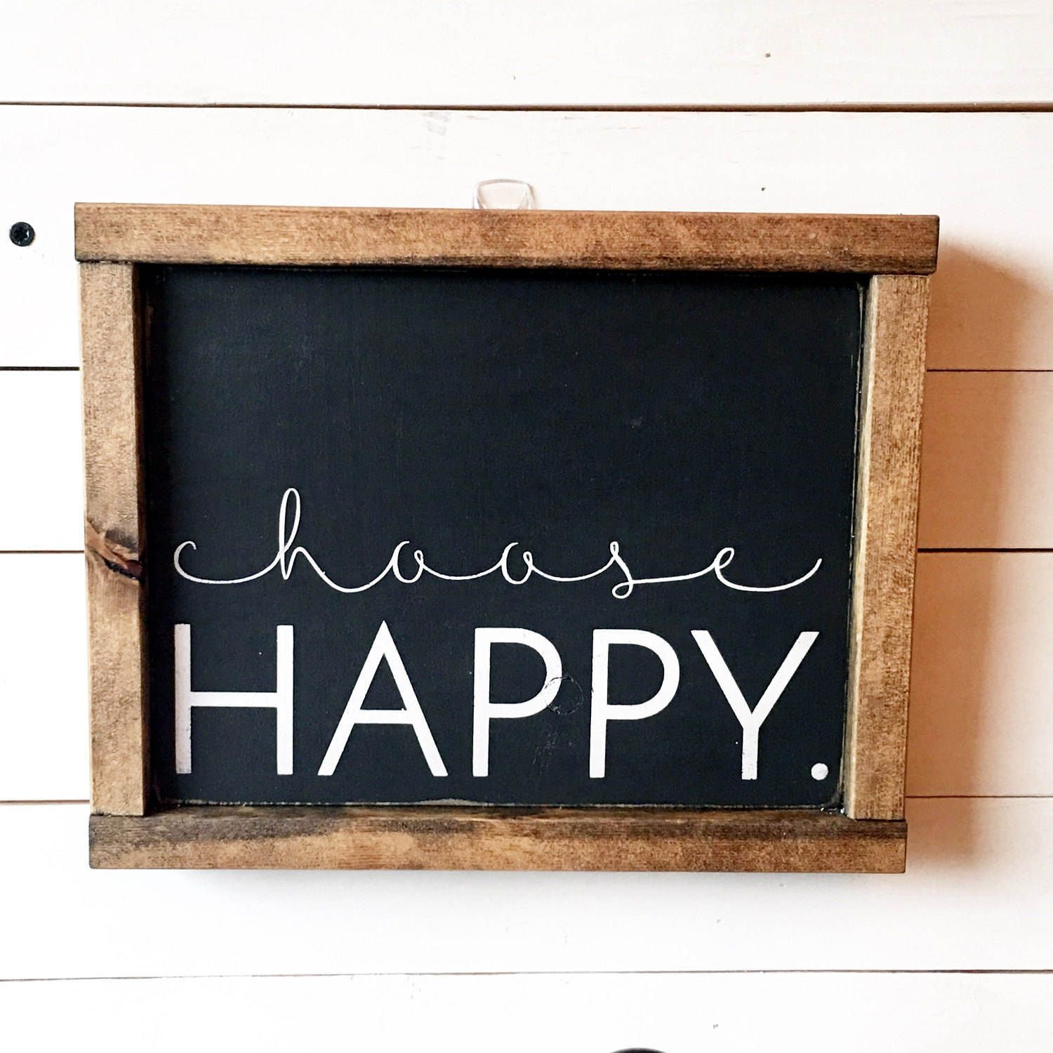 Choose Happy Wood Sign//rustic Wall Art//farmhouse Decor regarding Choose Happy Wood Wall Decor (Image 17 of 30)