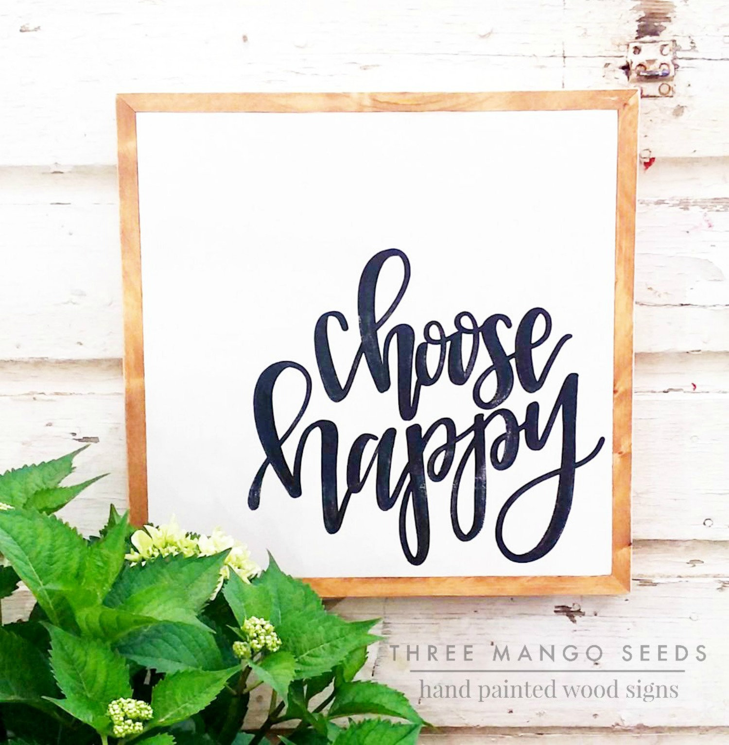 Choose Happy Wooden Sign | Wood Sign | Farmhouse Sign | | Farmhouse Wall  Decor | Three Sizes in Choose Happy Wood Wall Decor (Image 20 of 30)