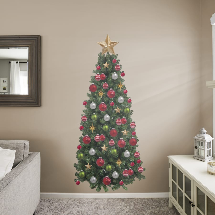 Christmas Tree – Life Size Holiday Removable Wall Decal Inside Tree Wall Decor (View 11 of 30)