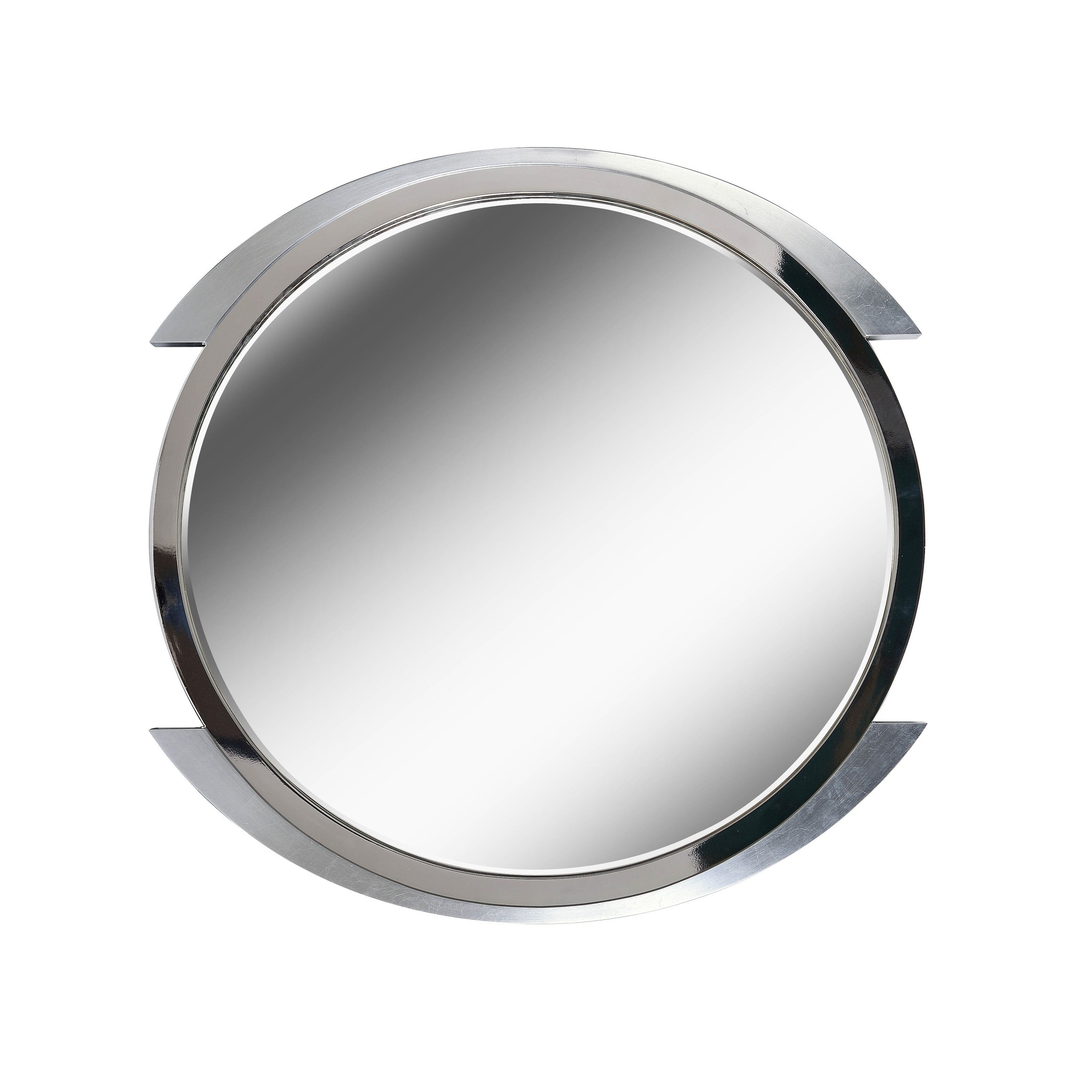 "Chromium 36"" Brushed Steel Wall Mirror regarding Swagger Accent Wall Mirrors (Image 6 of 30)"