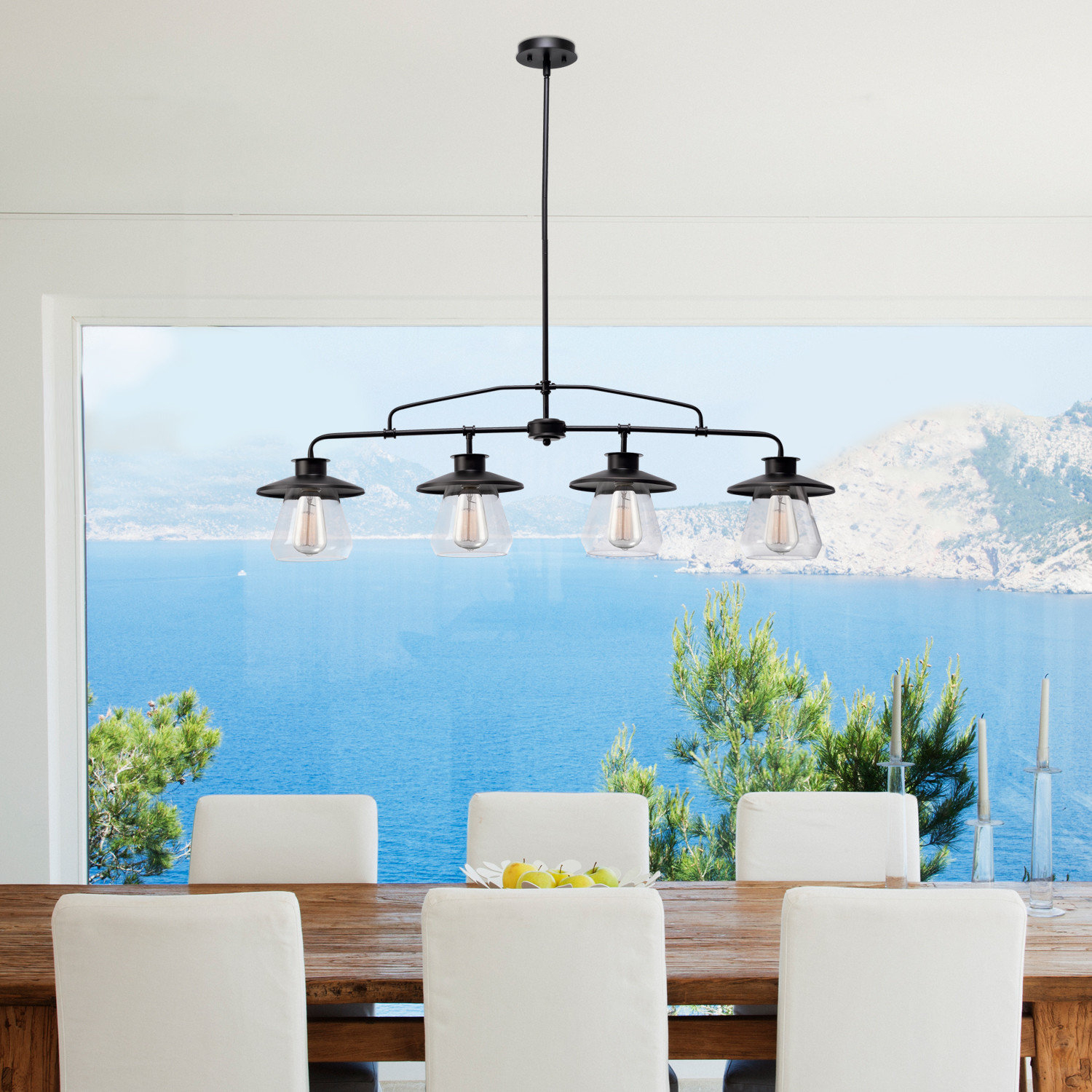 Featured Photo of Cinchring 4 Light Kitchen Island Linear Pendants