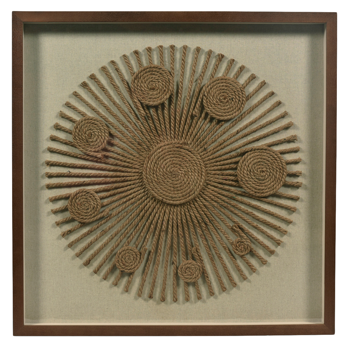 Circles Rope Wall Art In Metal Rope Wall Sign Wall Decor (View 17 of 30)