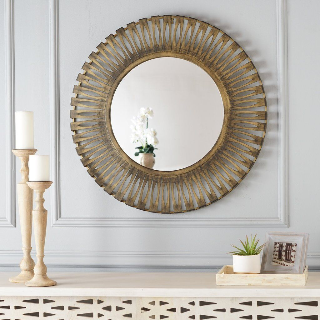 Circular Hanging Wall Mirror | Traditional Home Decor In Brynn Accent Mirrors (View 14 of 30)