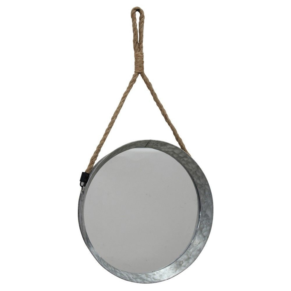 Ckk Home Decor Suspended Round Galvanized Wall Mirror With With Round Galvanized Metallic Wall Mirrors (View 4 of 30)