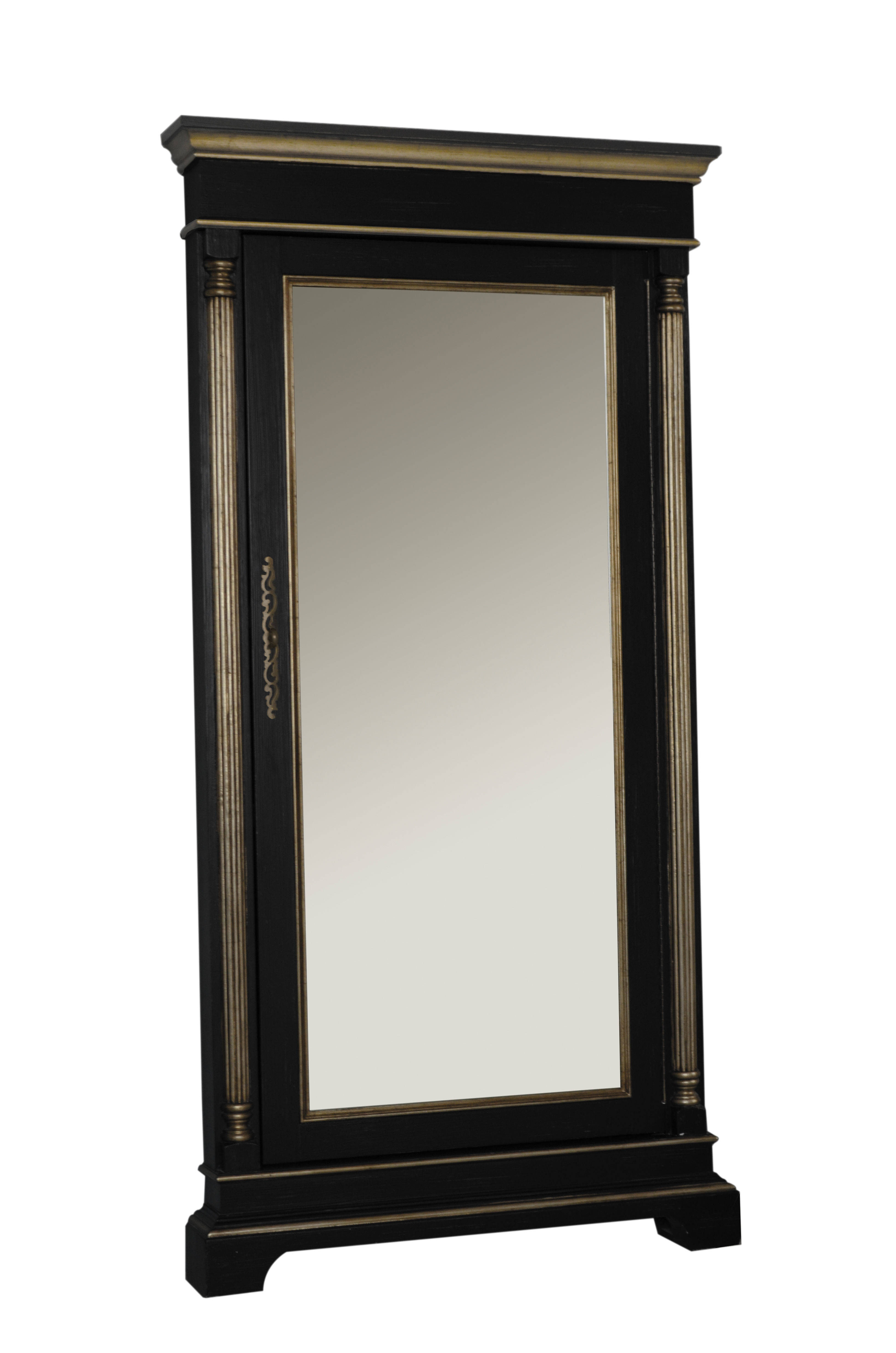 Classic Black Wood Accent Floor Mirror | The Classy Home Intended For Wood Accent Mirrors (View 22 of 30)