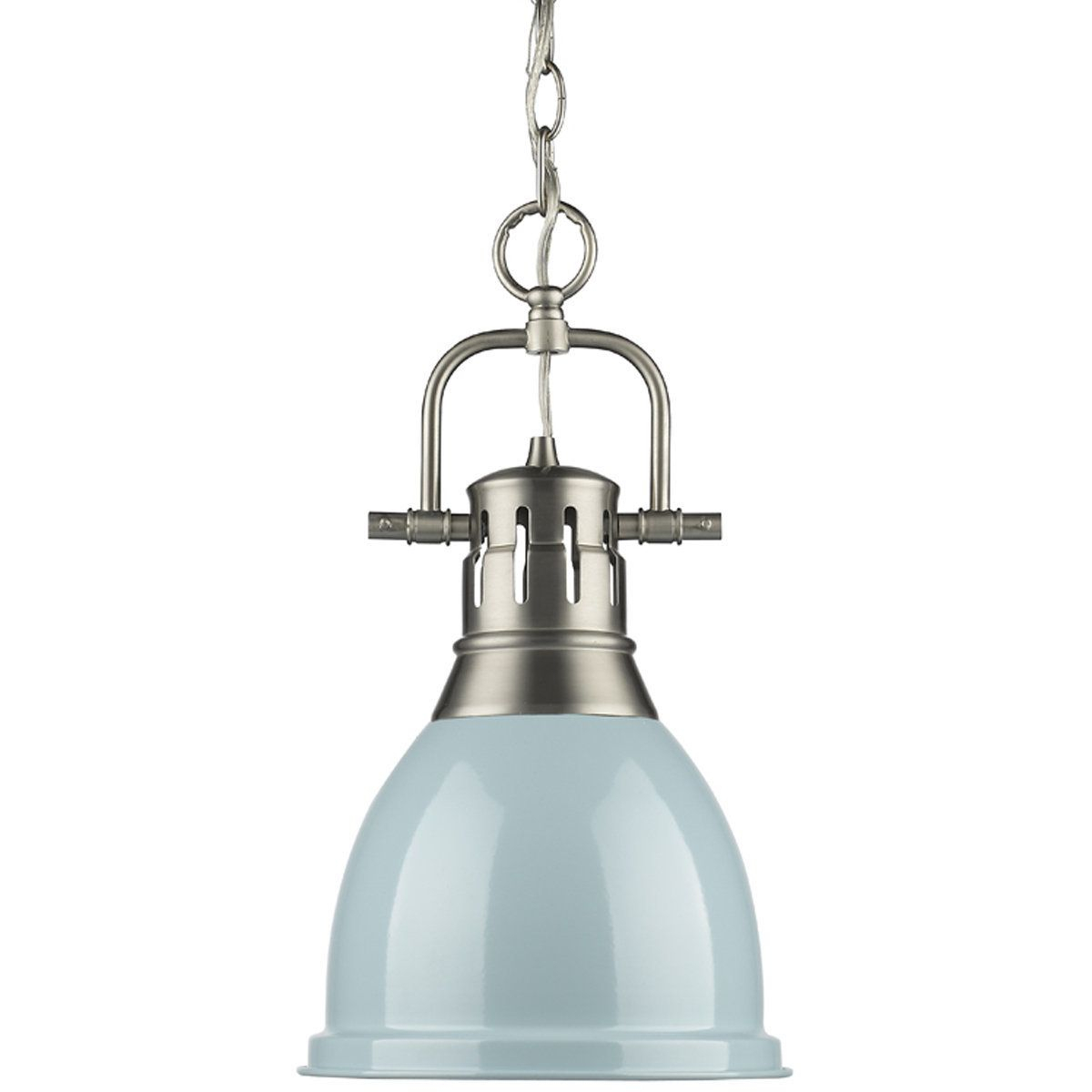 Classic Dome Shade Pendant Light With Chain – Small | Dining In Adriana Black 1 Light Single Dome Pendants (Image 9 of 30)