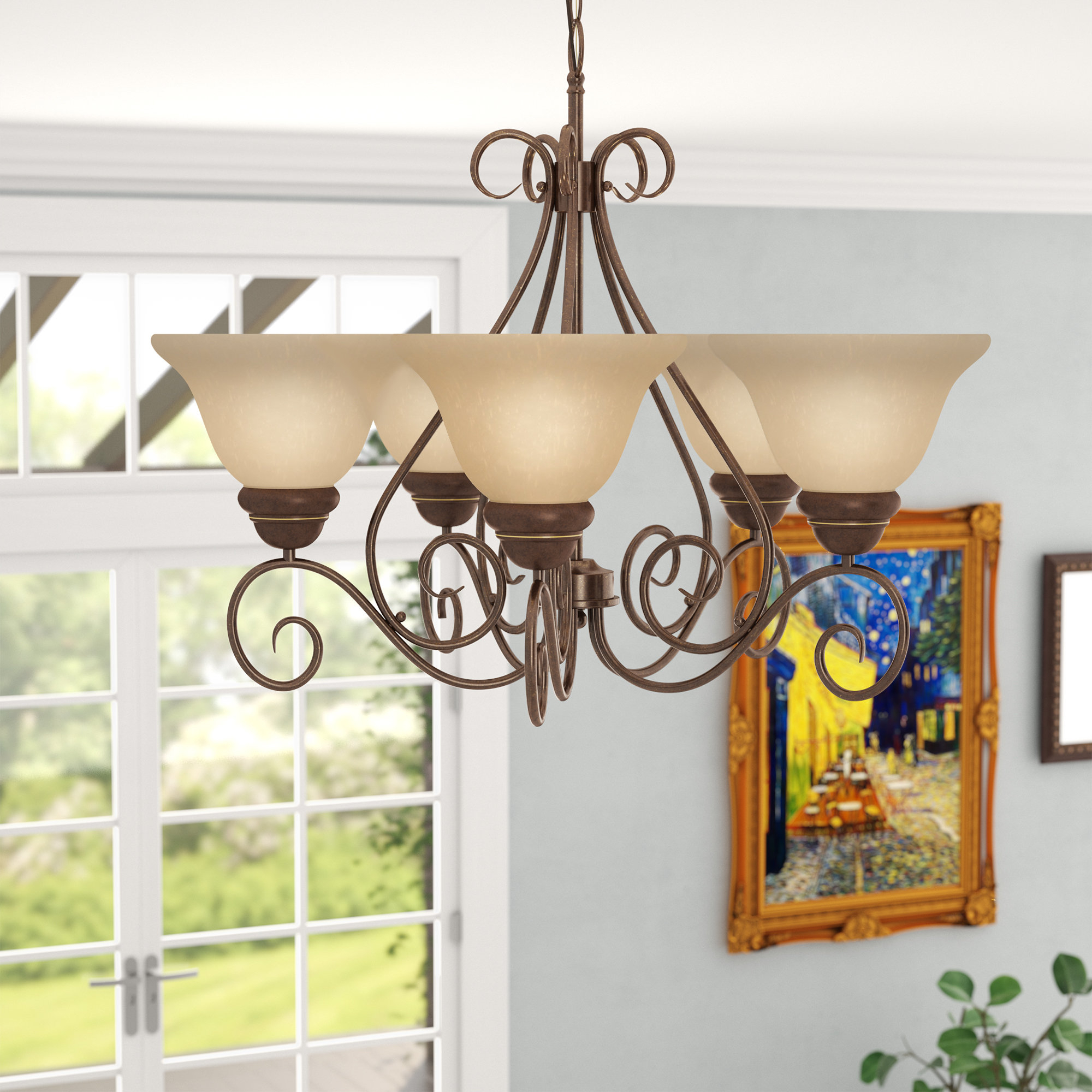 Claycomb 5 Light Shaded Chandelier Regarding Gaines 5 Light Shaded Chandeliers (View 1 of 30)