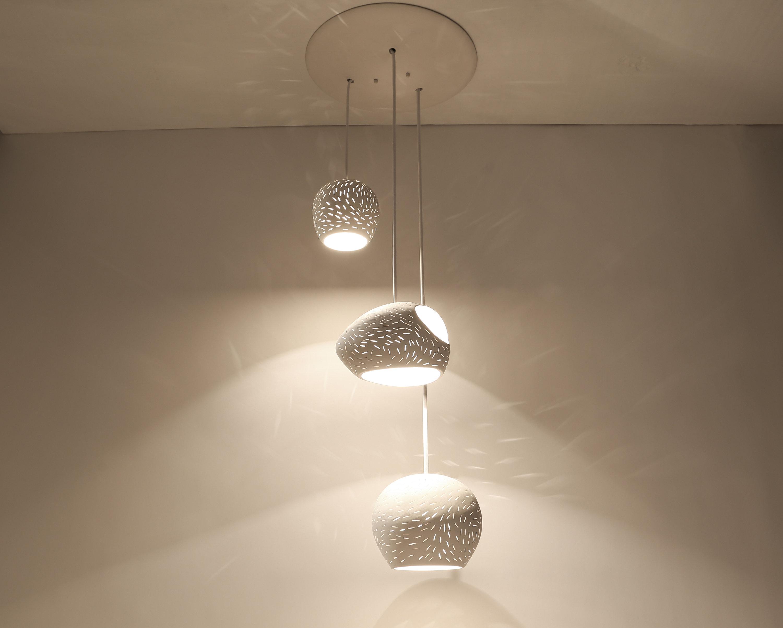 Claylight Cluster : Triple Pendant Light | Ul Listed Chandelier Lighting |  Led Bulbs Optional intended for Johanne 6-Light Sputnik Chandeliers (Image 6 of 30)