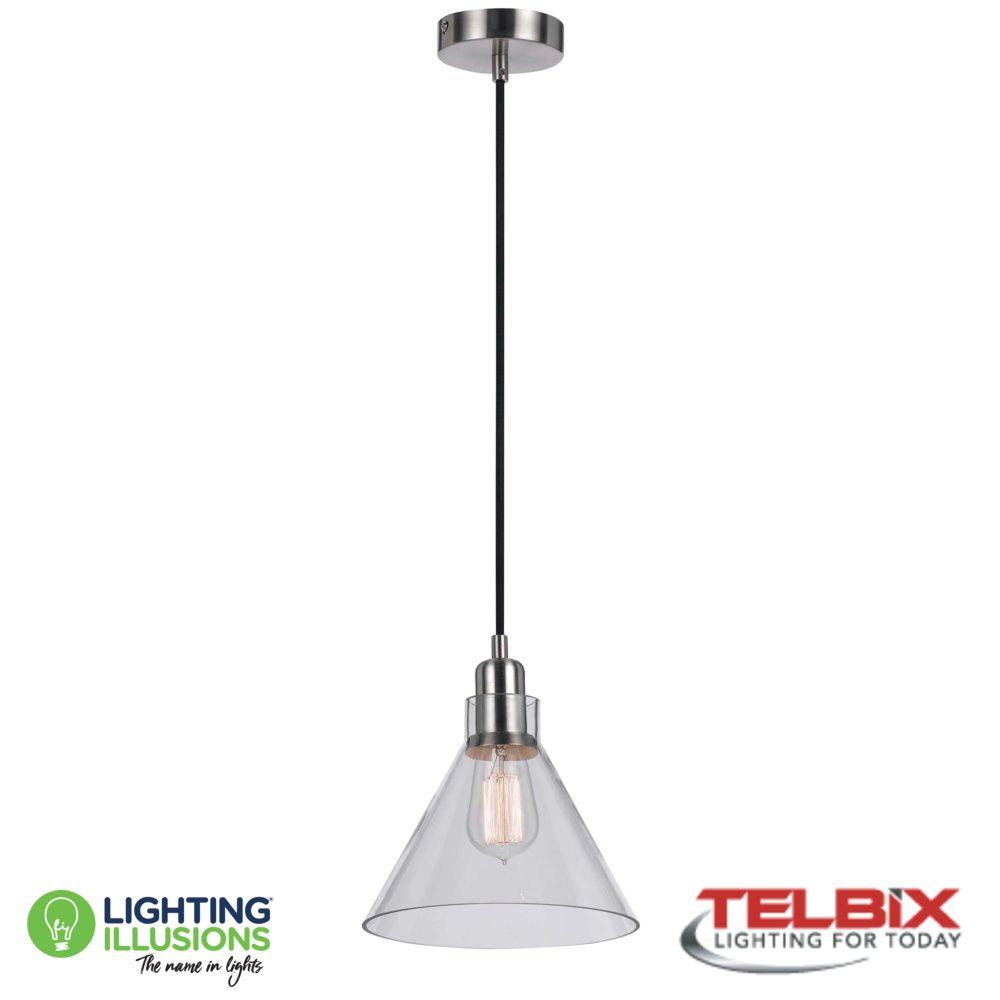 Clear Telbix Alden Single Glass Pendant Light For Alden 3 Light Single Globe Pendants (Image 11 of 30)