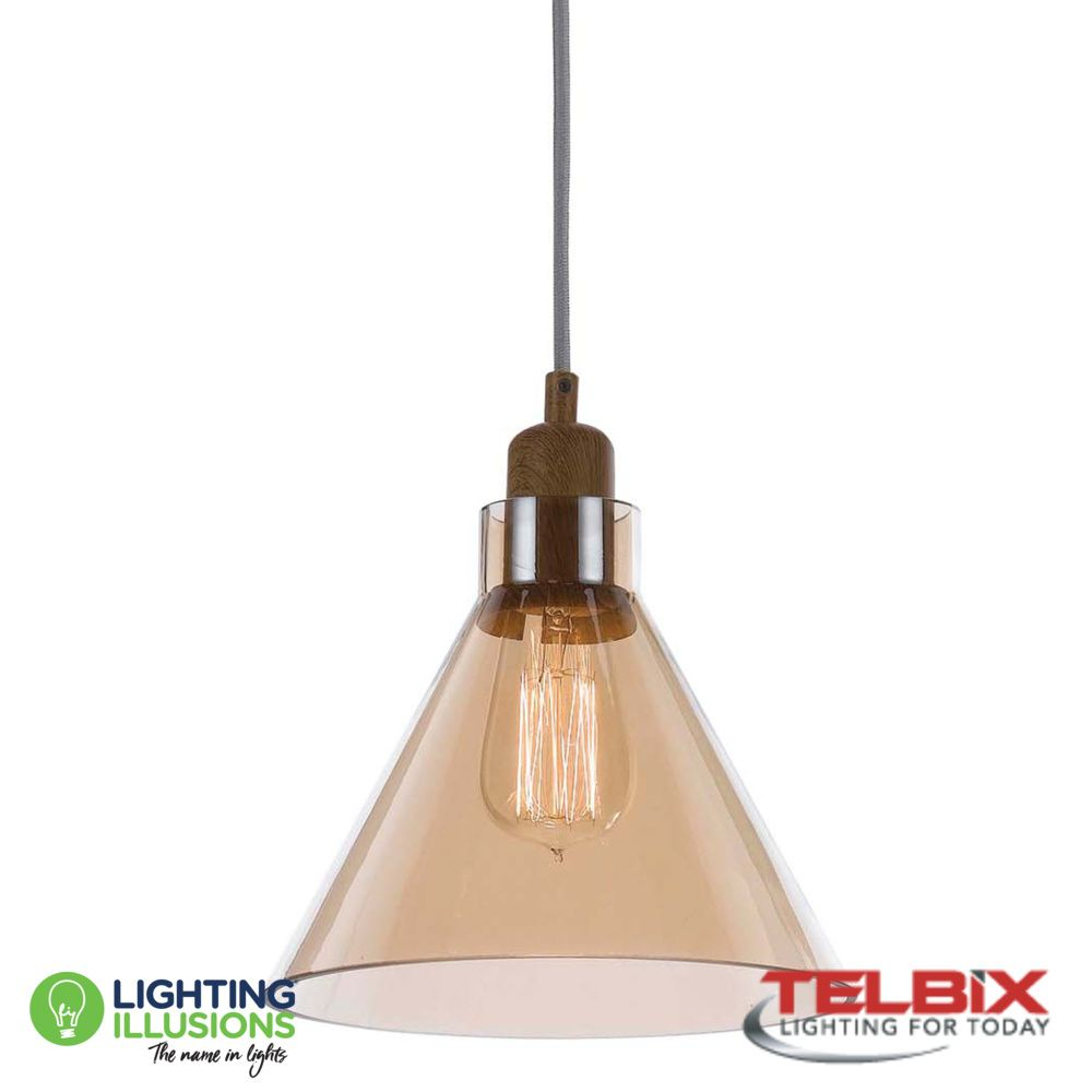 Clear Telbix Alden Single Glass Pendant Light For Alden 3 Light Single Globe Pendants (View 22 of 30)