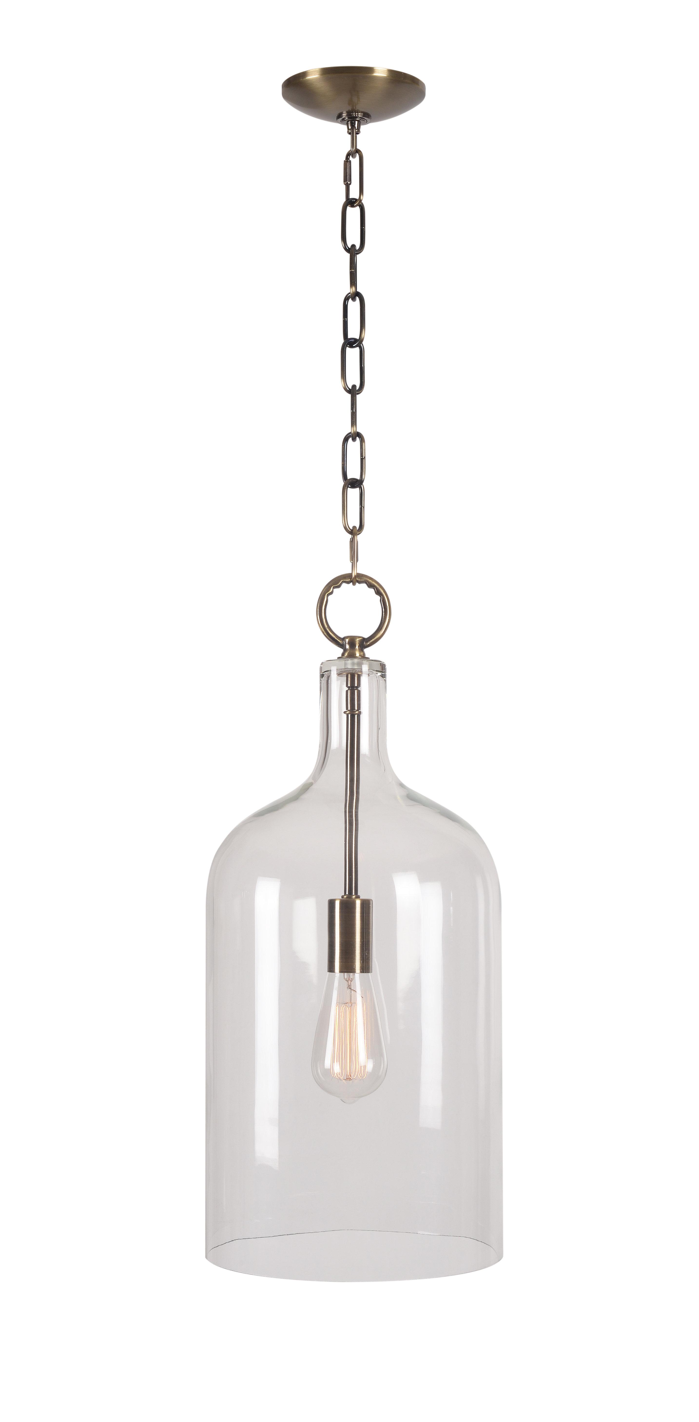 Featured Photo of Clematite 1 Light Single Jar Pendants