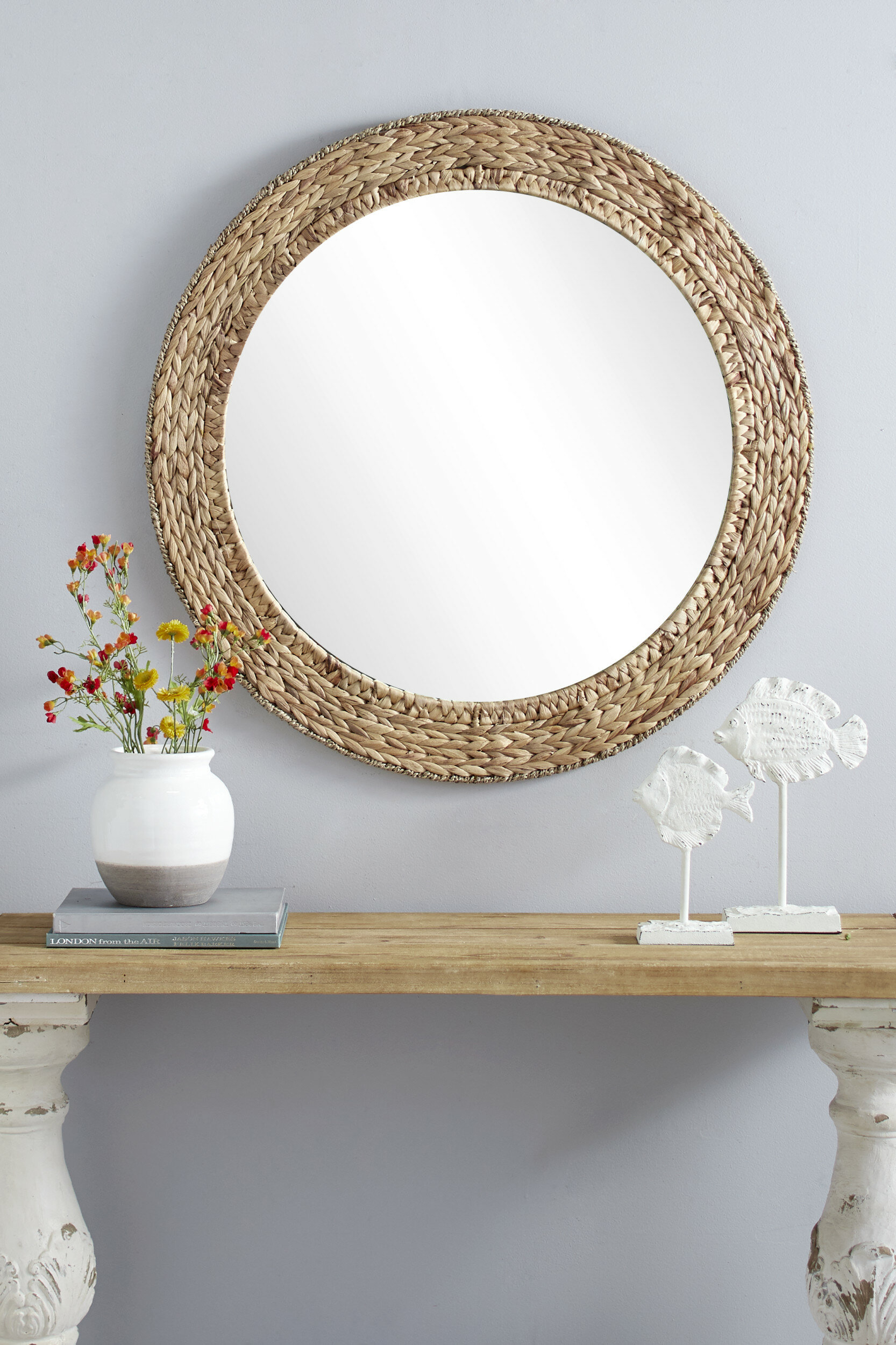 Coastal Mirrors You'll Love In 2019 | Wayfair.ca intended for Point Reyes Molten Round Wall Mirrors (Image 6 of 30)
