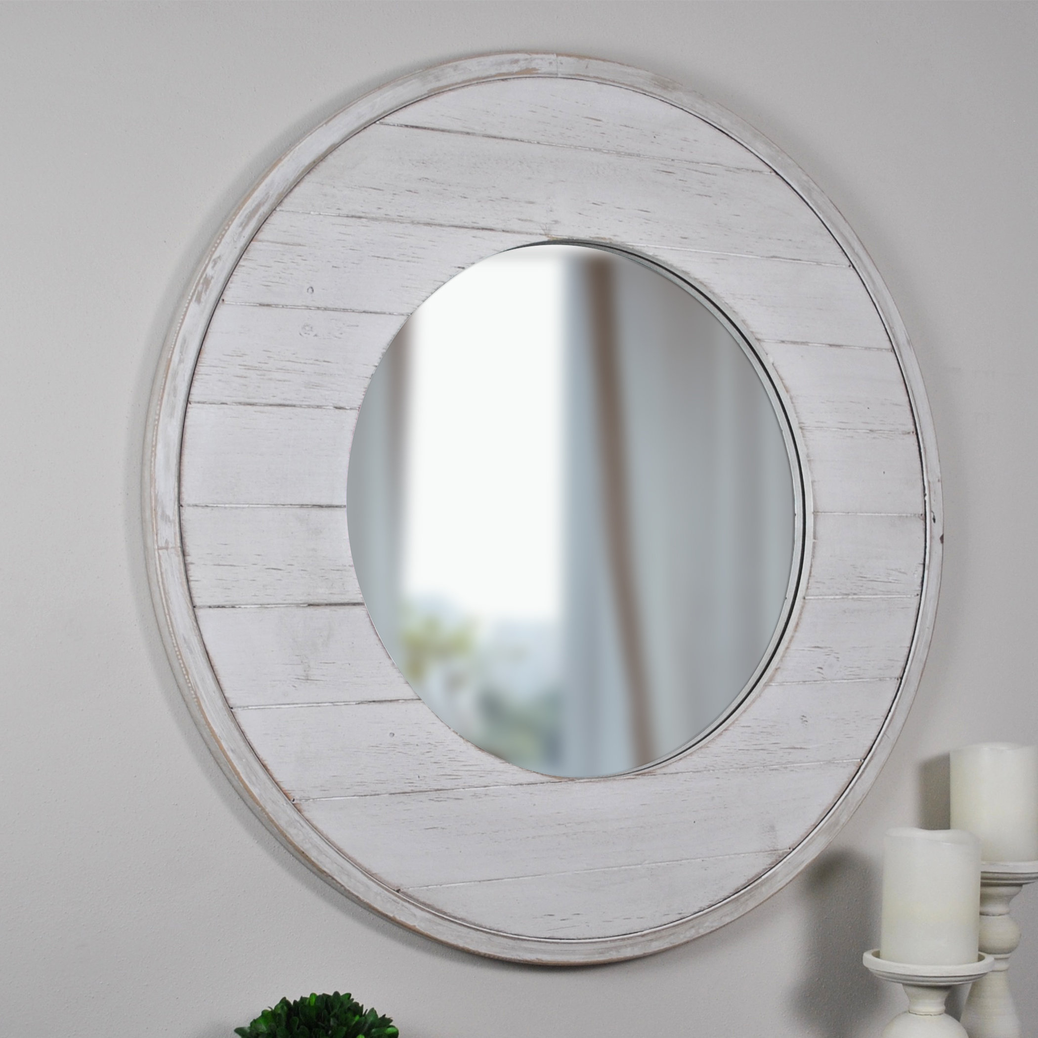 Coastal Mirrors You'll Love In 2019 | Wayfair.ca with Point Reyes Molten Round Wall Mirrors (Image 7 of 30)