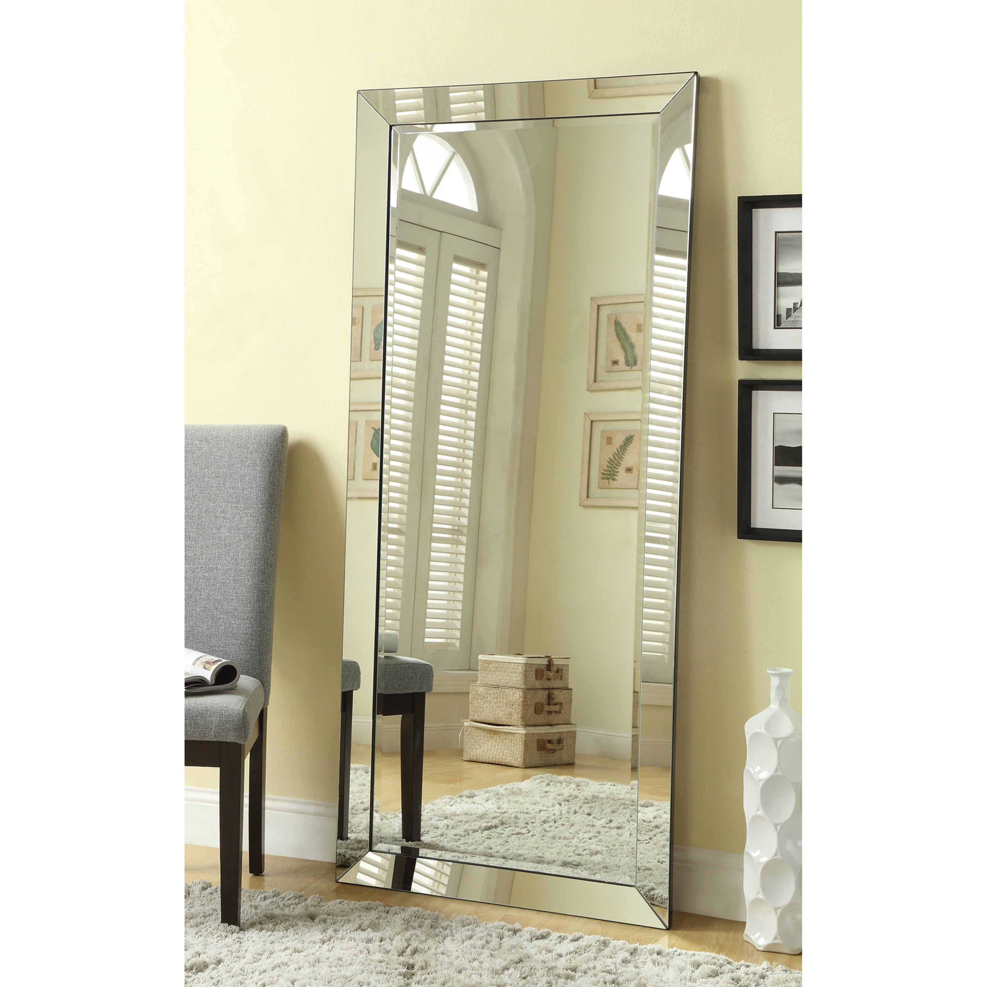 Coaster Furniture Beveled Floor Mirror – 30W X 70H In (View 8 of 30)