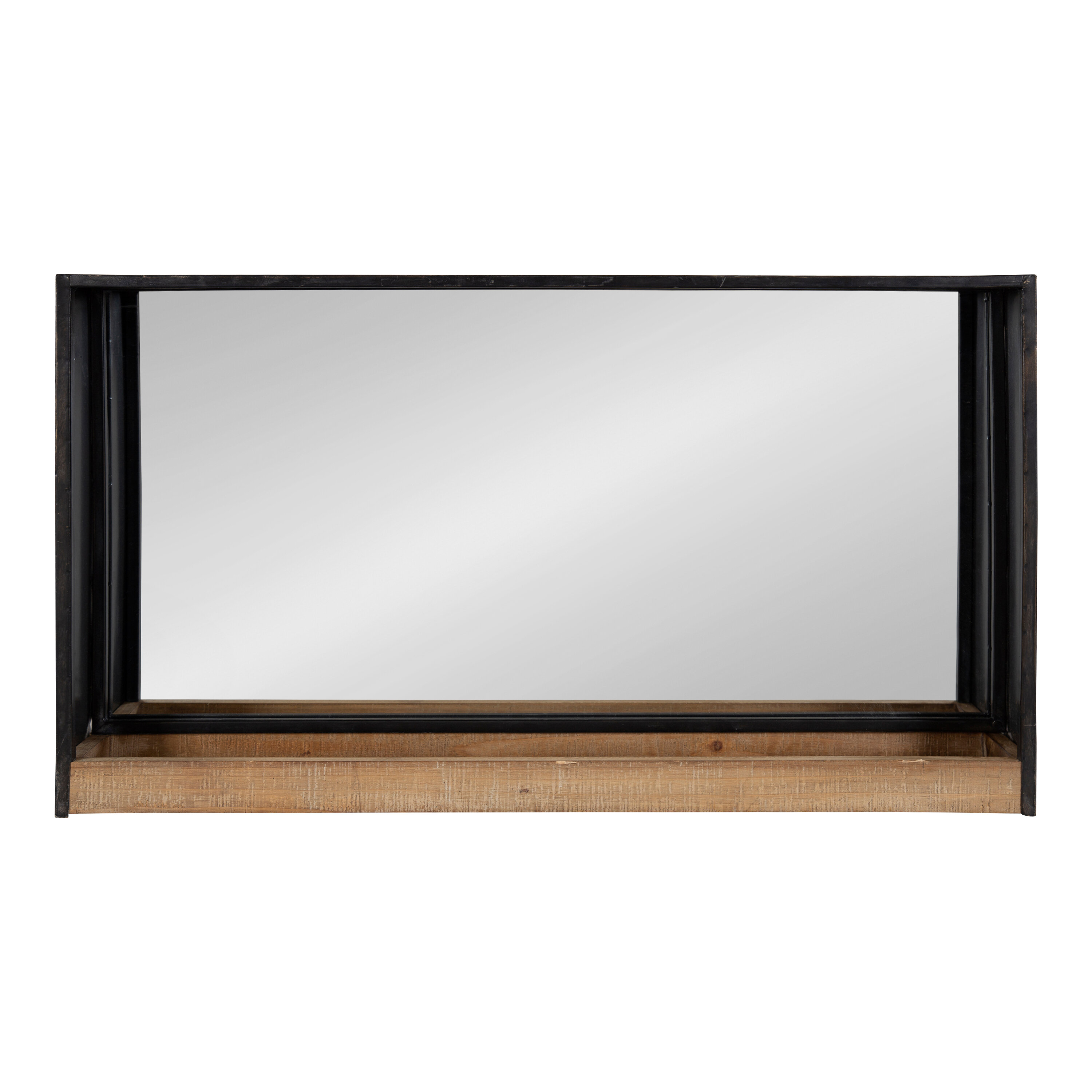 Coelho Casual Modern Beveled With Shelf Accent Mirror Throughout Modern & Contemporary Beveled Accent Mirrors (View 9 of 30)