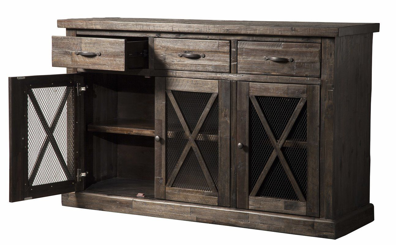 Colborne Sideboard | Rustic Industrial In 2019 | Wood Throughout Colborne Sideboards (View 13 of 30)
