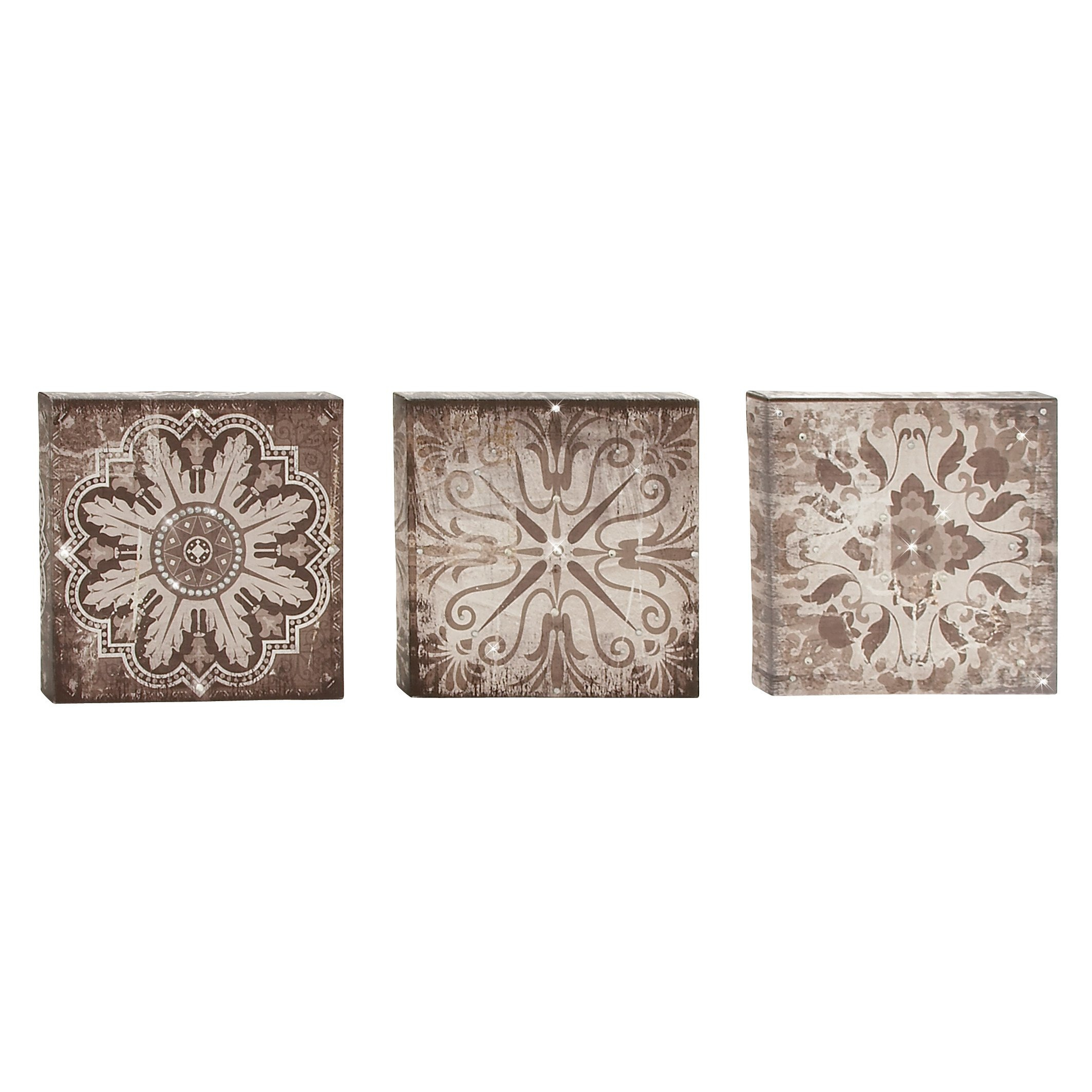 Cole Grey 3 Piece Wall Art Set Reviews Decor Gold Designs With Regard To Wall Decor By Cole & Grey (View 10 of 30)
