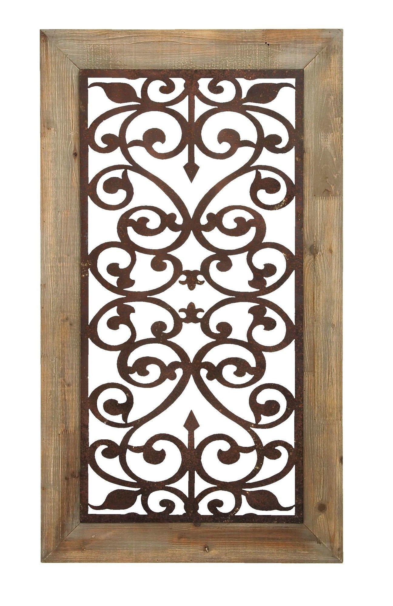Cole & Grey Wood Metal Wall Decor | Art | Wall Decor, Wood Throughout Wall Decor By Cole & Grey (View 3 of 30)