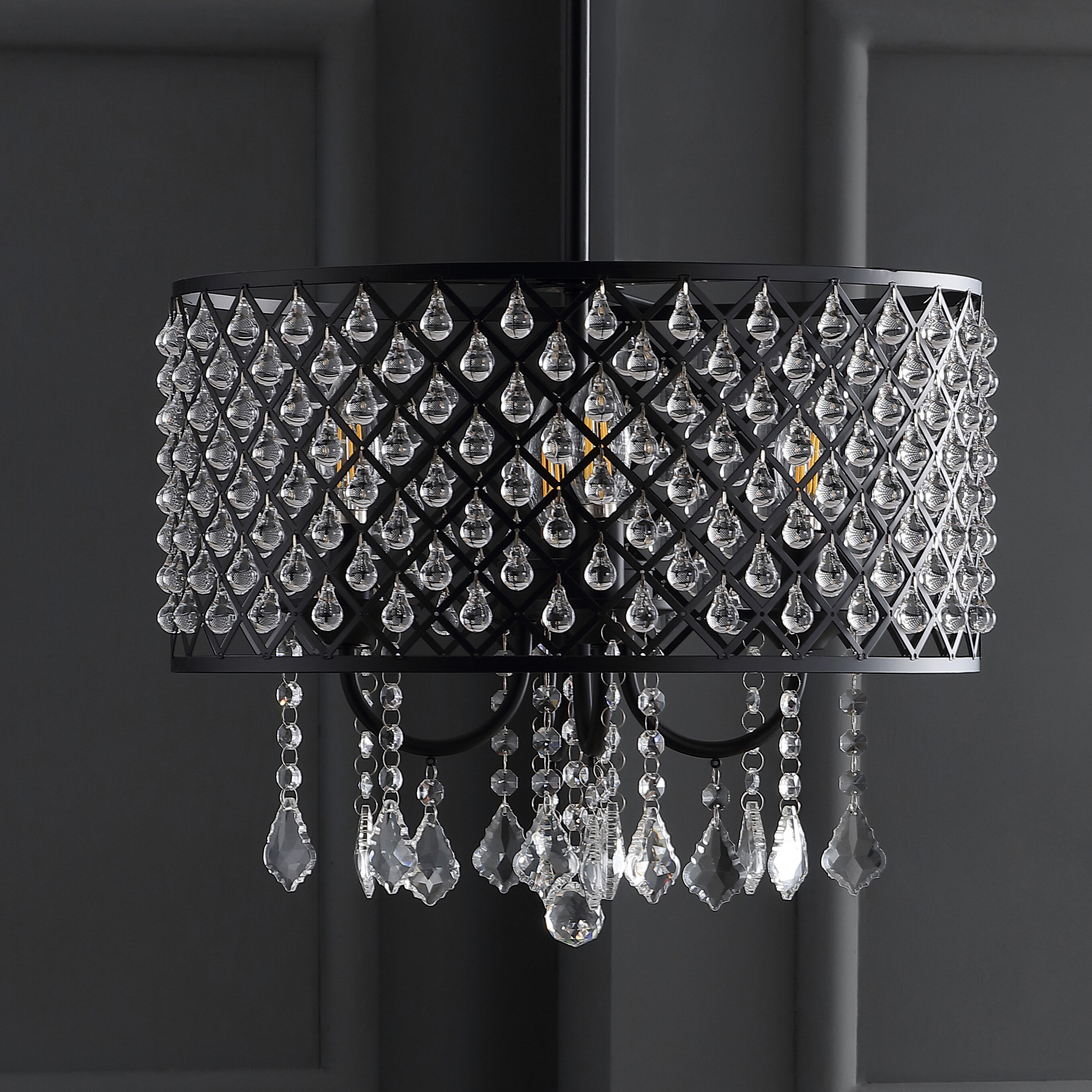 Collado 4 Light Drum Chandelier Intended For Gisselle 4 Light Drum Chandeliers (View 5 of 30)