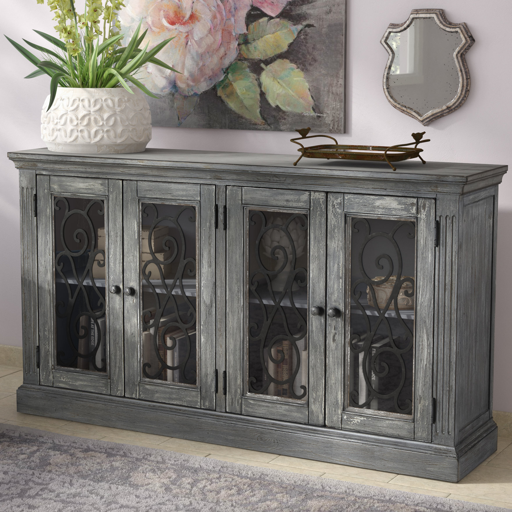 Colombier 4 Door Accent Cabinet intended for Eau Claire 6 Door Accent Cabinets (Image 3 of 30)