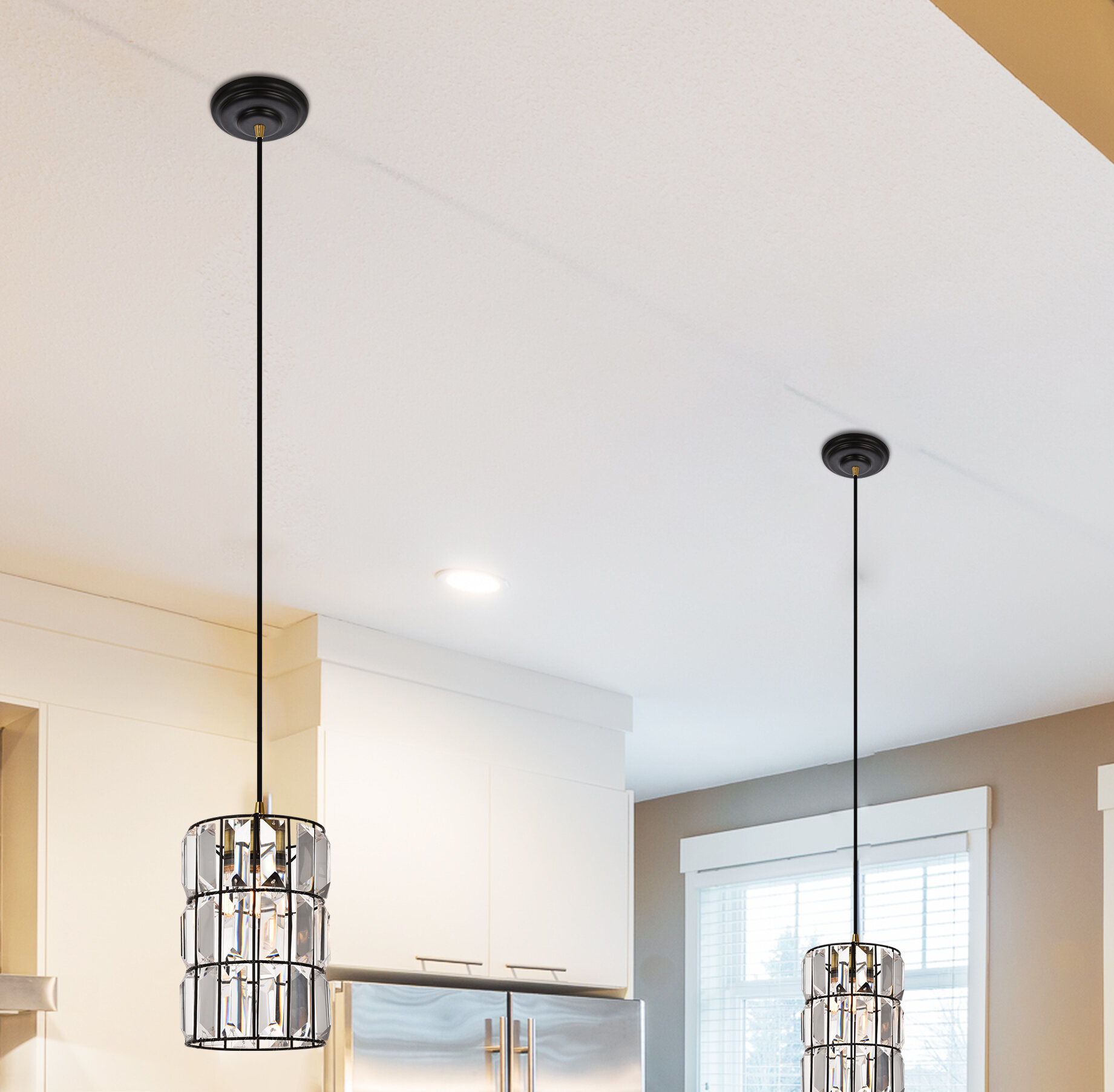Colston 1-Light Single Cylinder Pendant inside Spokane 1-Light Single Urn Pendants (Image 12 of 30)