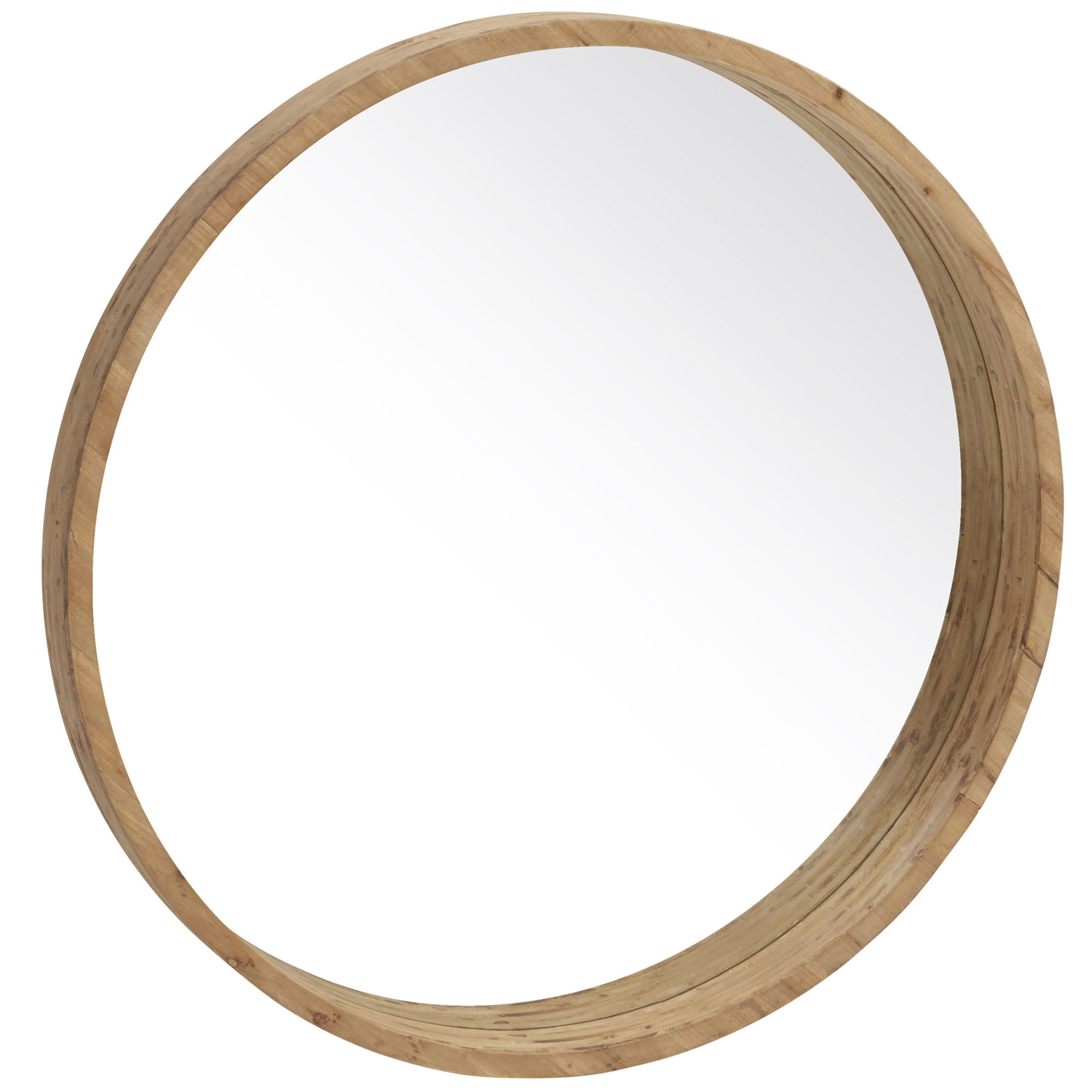 Colton Round Wooden Mirror with regard to Colton Modern & Contemporary Wall Mirrors (Image 9 of 30)
