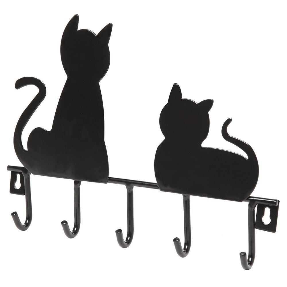 Comfortable Black Cat Decorative 5 Key Wall Mounted Metal Intended For Lacordaire Wall Mounted Mailbox (View 23 of 30)