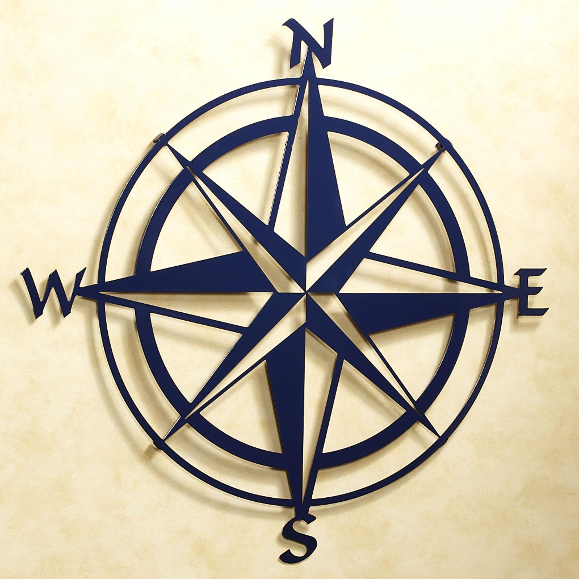 Compass Rose Indoor Outdoor Metal Wall Art | Compass Roses in Outdoor Metal Wall Compass (Image 10 of 30)