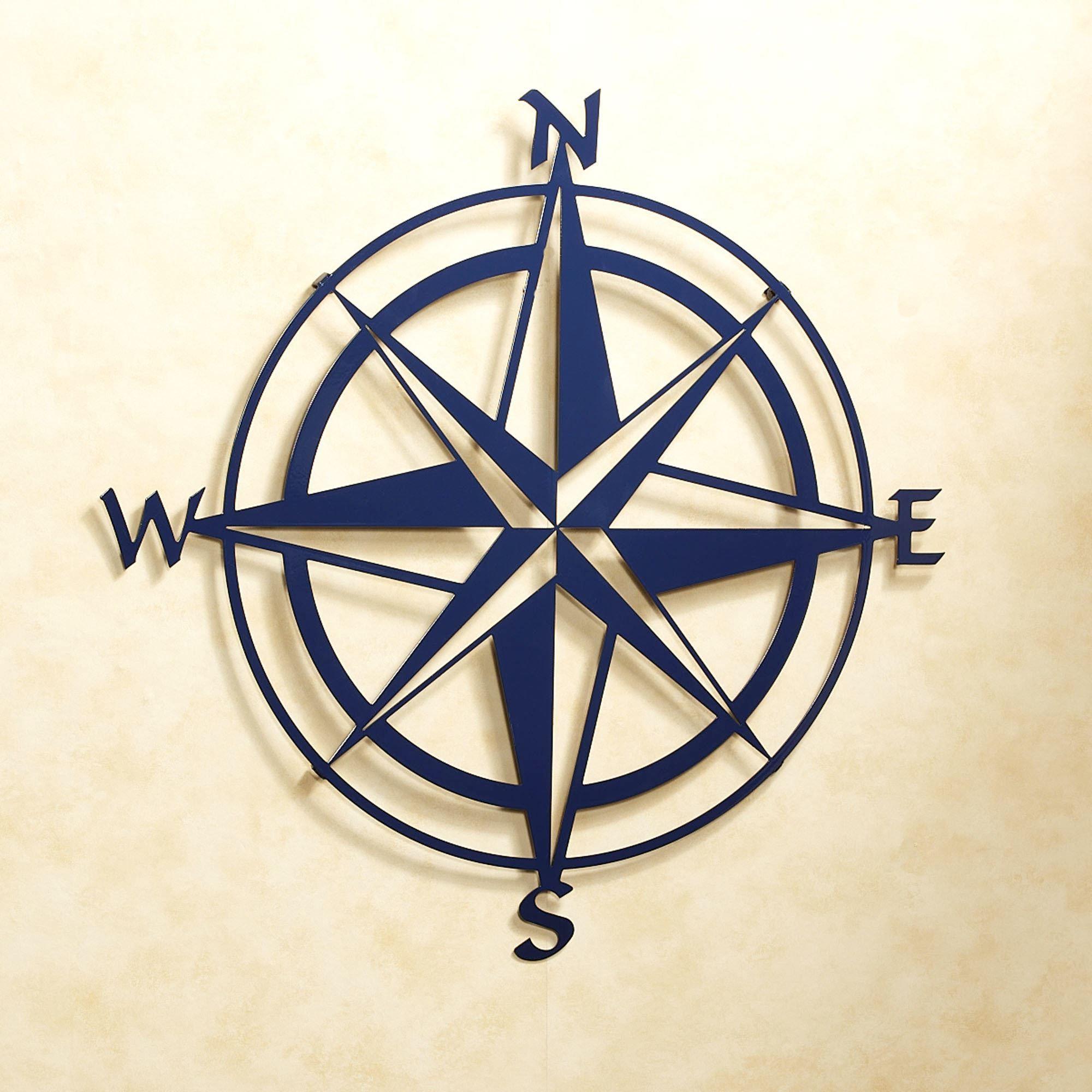 Compass Rose Indoor Outdoor Metal Wall Art | Stuff | Outdoor regarding Outdoor Metal Wall Compass (Image 11 of 30)