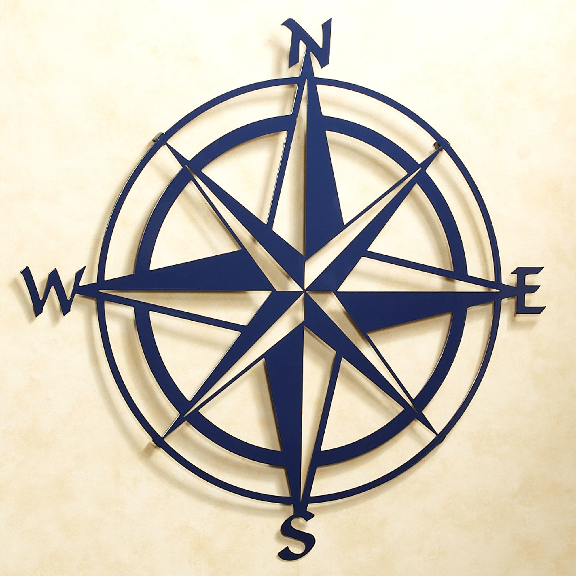 Compass Rose Indoor Outdoor Metal Wall Art Throughout Round Compass Wall Decor (View 7 of 30)