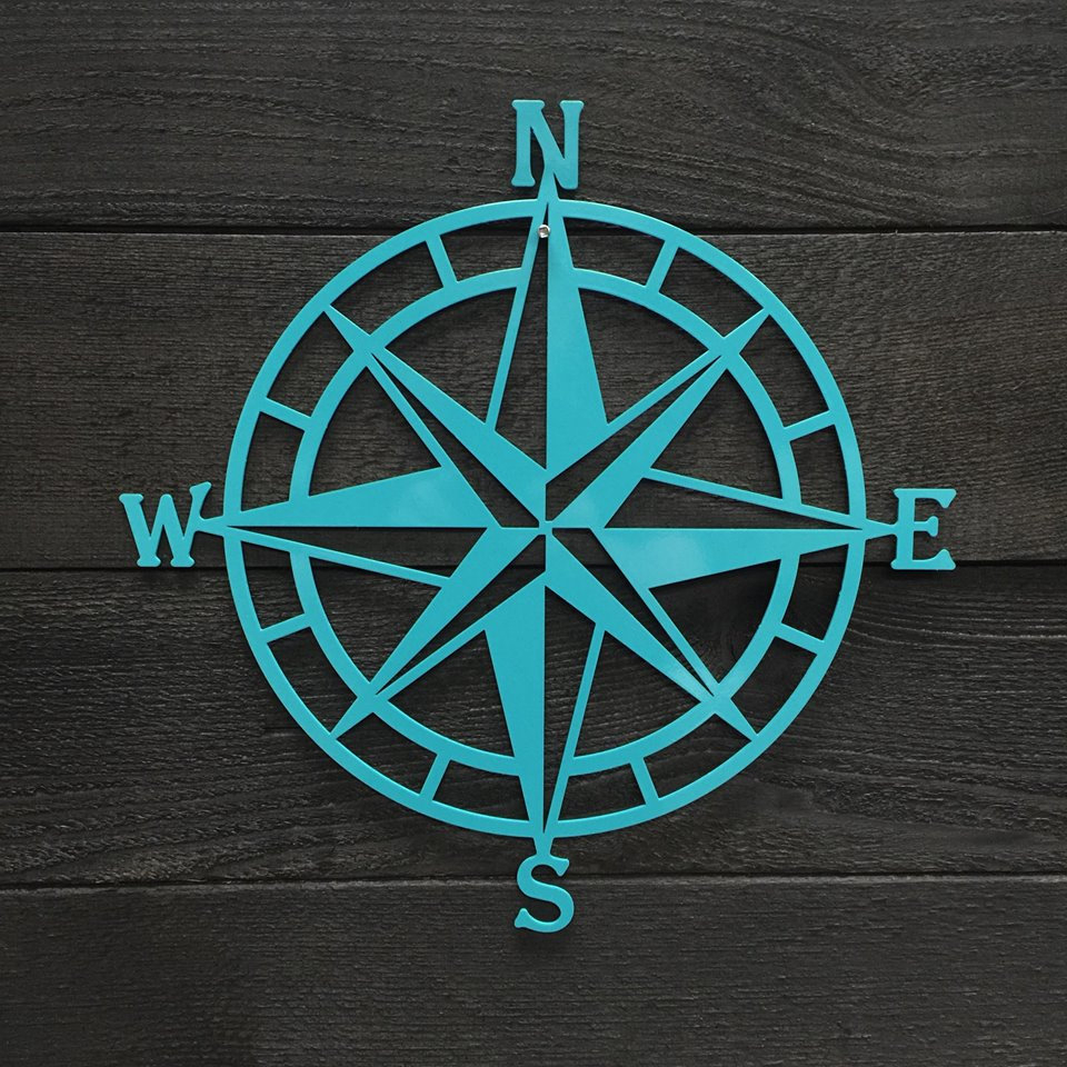Compass Rose Metal Wall Art | Nautical Compass| Nautical Wall Art | Metal Wall Art | Outdoor Metal Art | Compass Wall Decor Hsac1001 With Regard To Outdoor Metal Wall Compass (View 7 of 30)