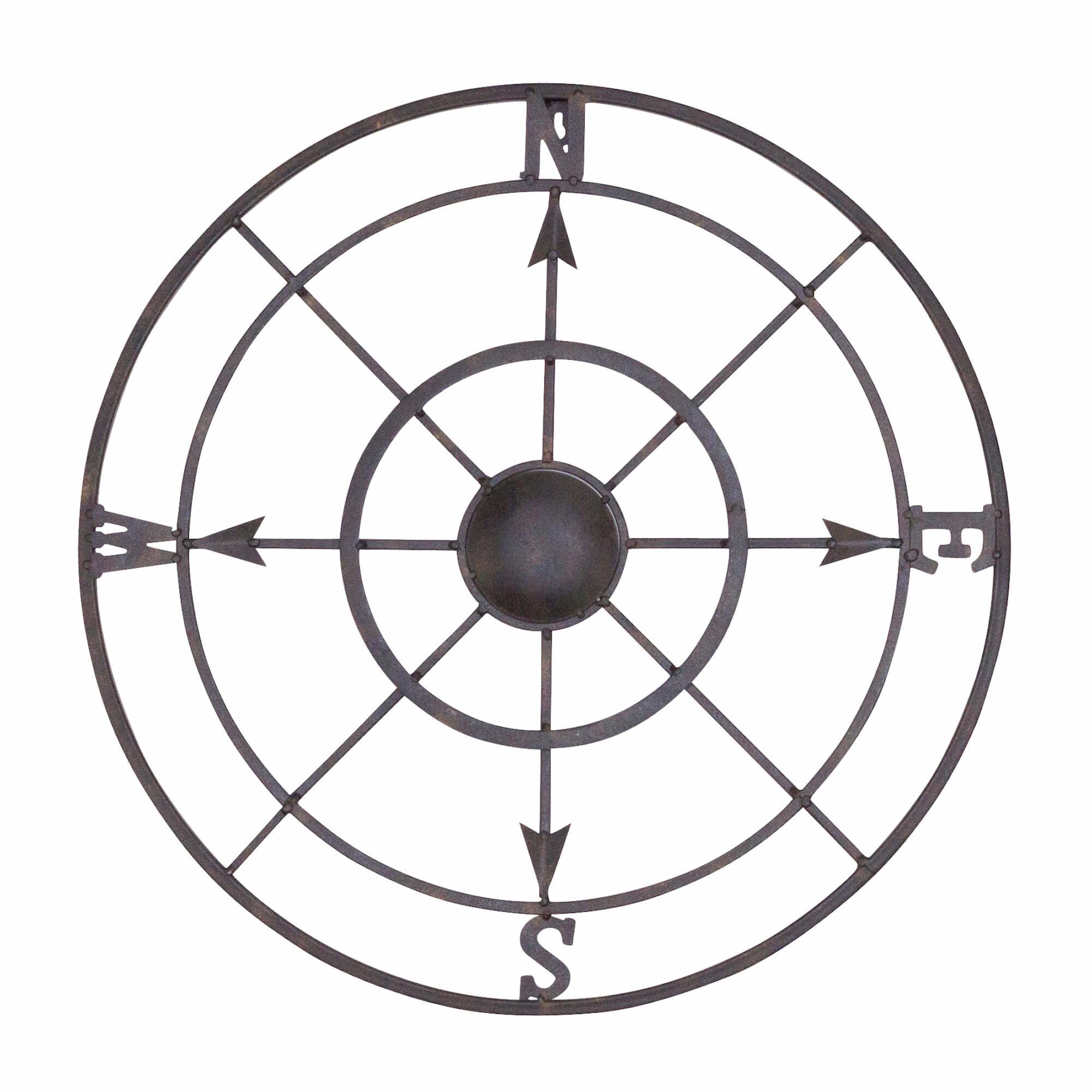 Compass Rose Wall Art | Wayfair Regarding Round Compass Wall Decor (View 12 of 30)