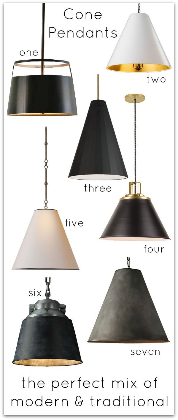 Cone Pendants: New Lighting For Our Kitchen! | Общие Советы With Regard To Nadeau 1 Light Single Cone Pendants (View 18 of 30)