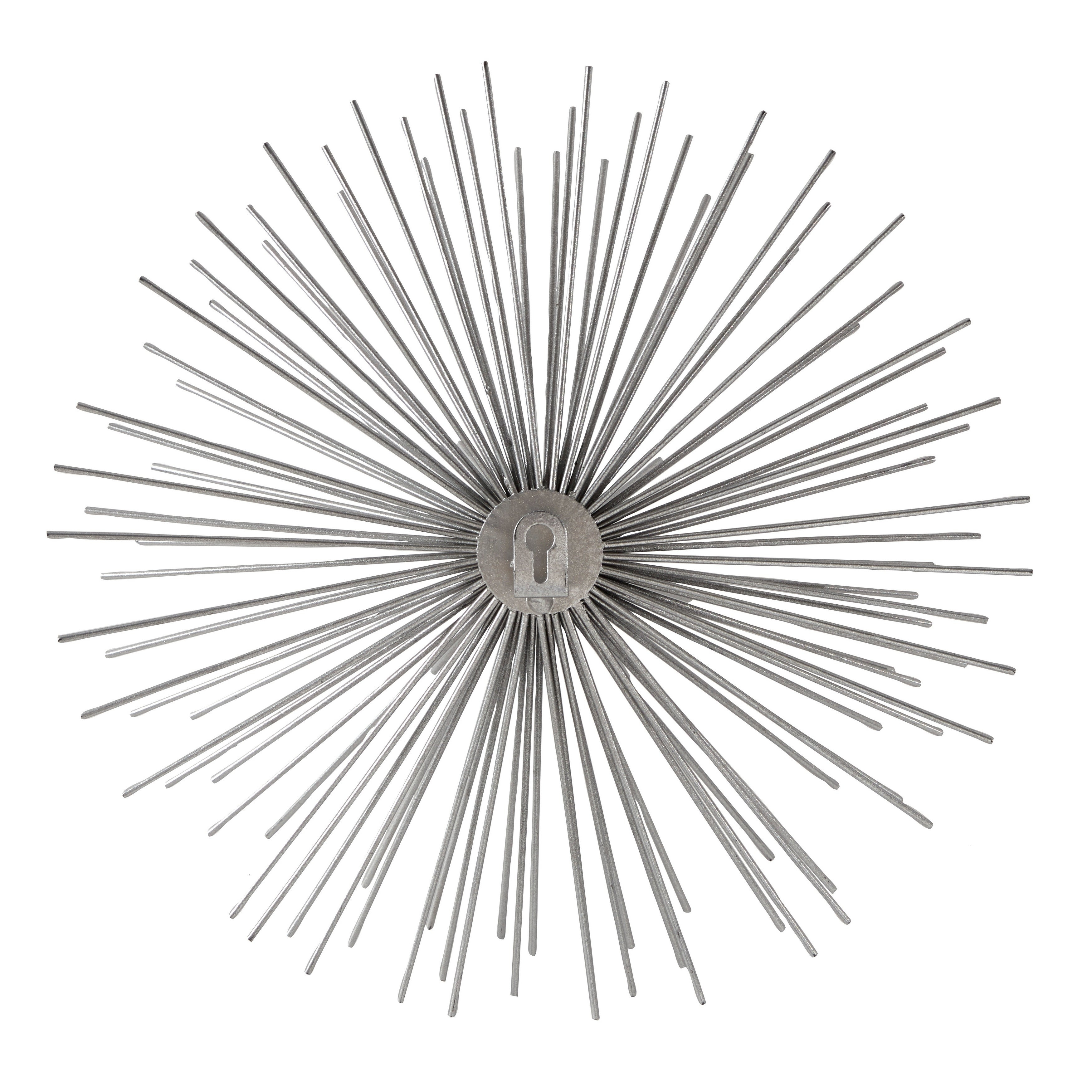 Contemporary 3D Silver Metal Starburst Wall Decor Sculptures Set Of 3 for Set of 3 Contemporary 6, 9, and 11 Inch Gold Tin Starburst Sculptures (Image 5 of 30)