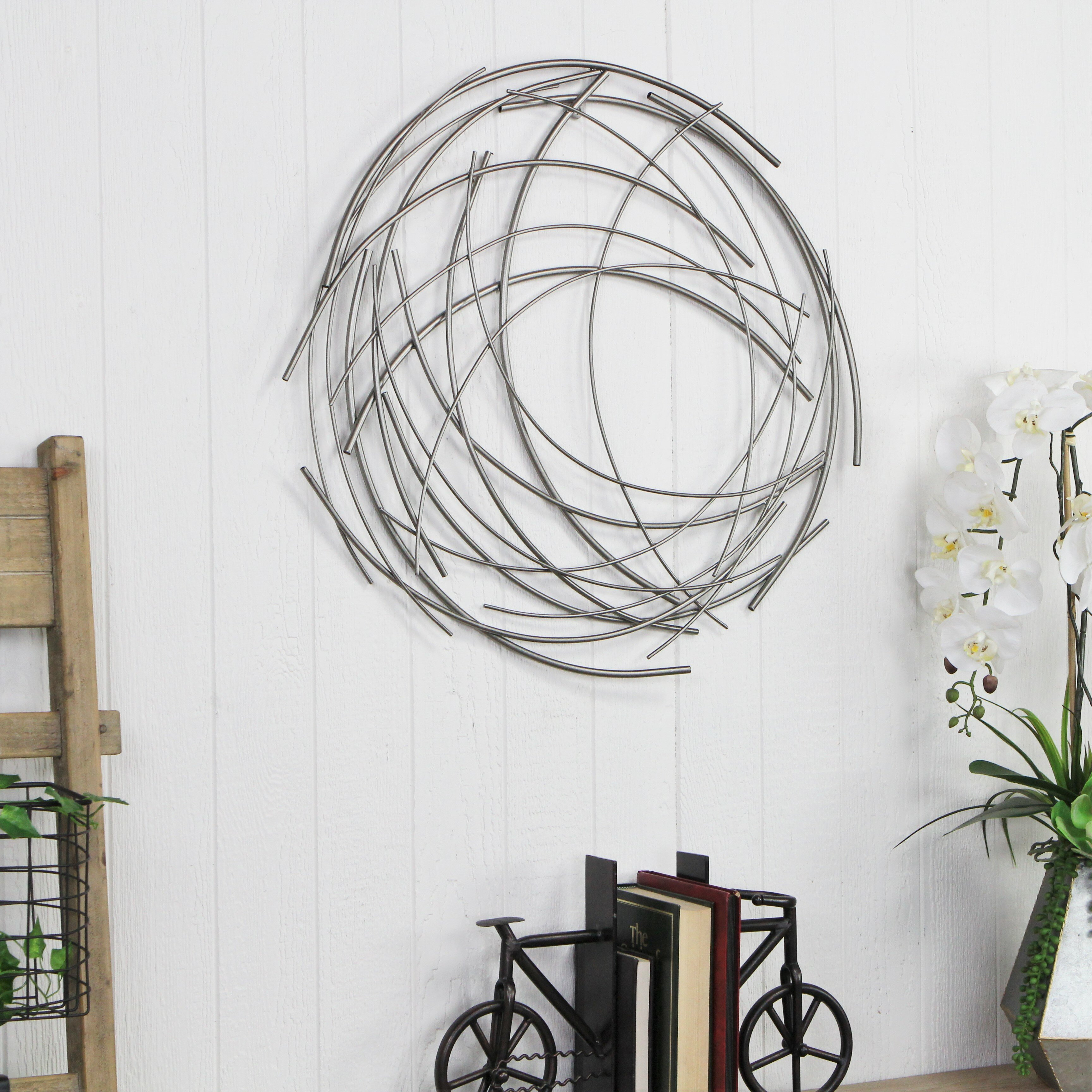 Contemporary Abstract Round Wall Décor Within Rings Wall Decor By Wrought Studio (View 18 of 30)