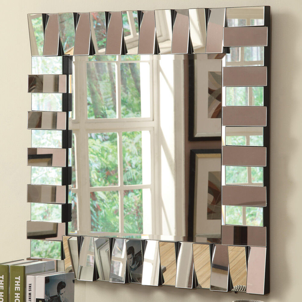 Contemporary Accent Wildon Home Wall Decor Mirror Square Silver Layered Panels For Egor Accent Mirrors (View 21 of 30)