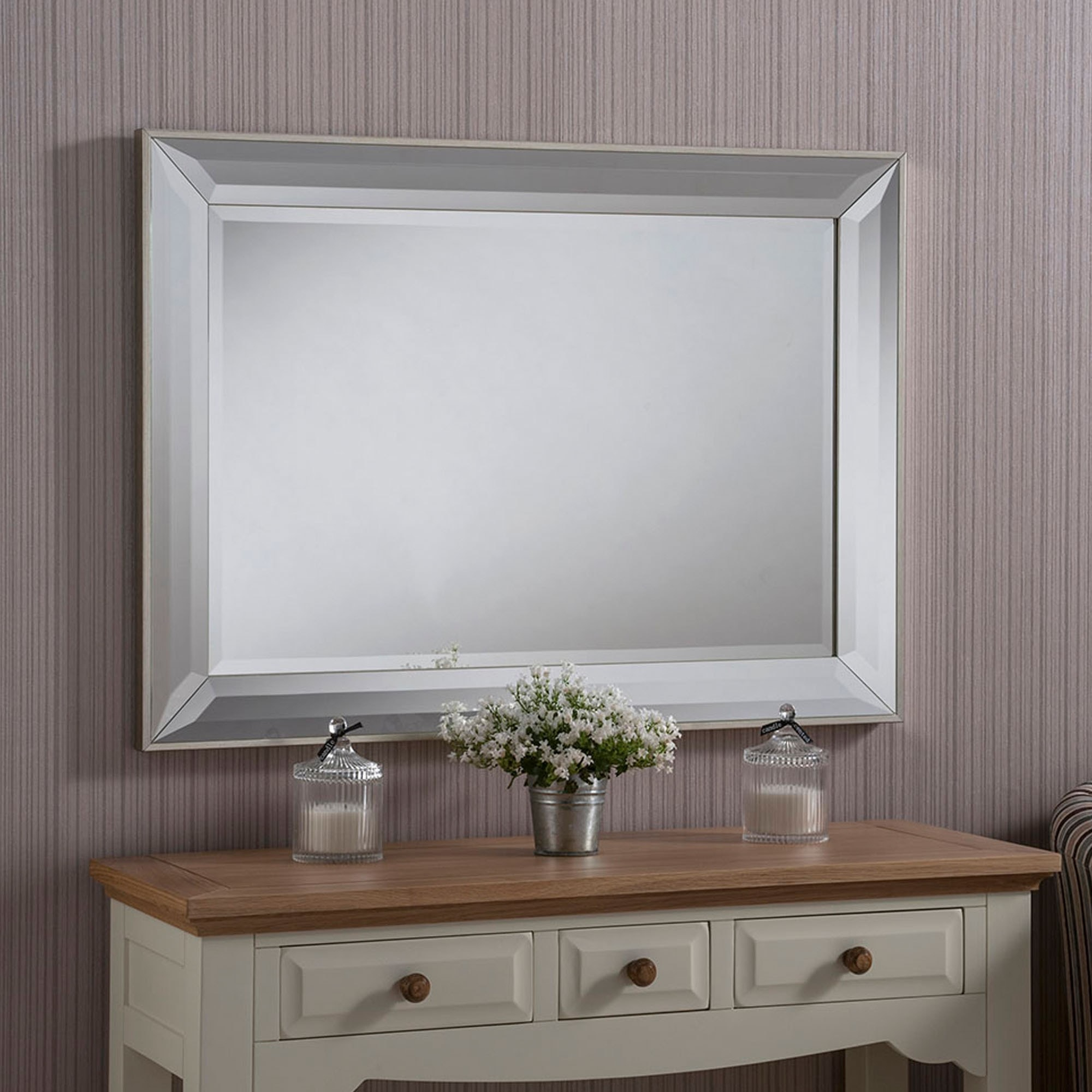 Contemporary Beveled Mirrored Wall Mirror throughout Modern & Contemporary Beveled Wall Mirrors (Image 5 of 30)