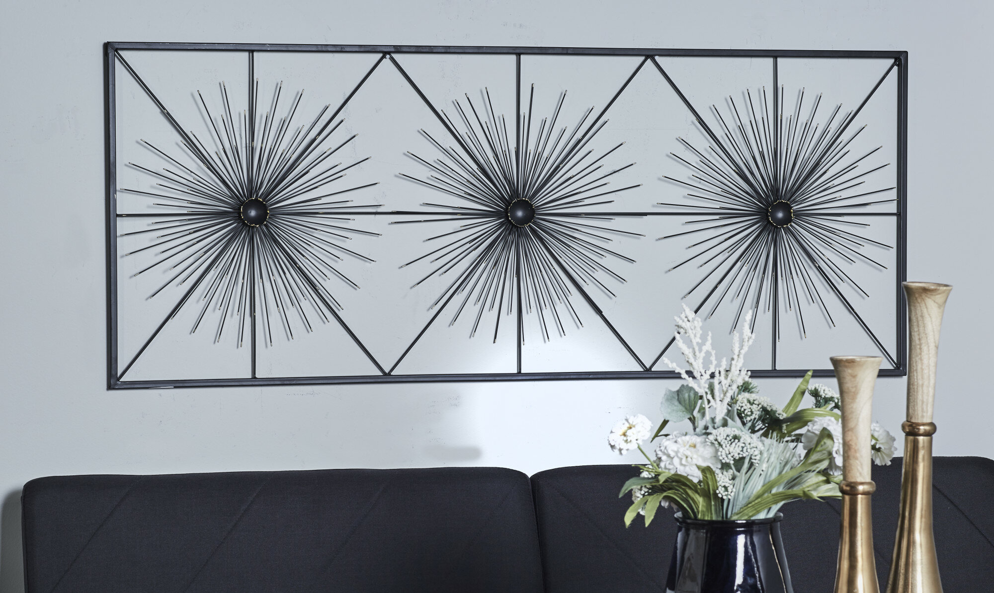 Contemporary Geometric Burst Wall Décor inside Contemporary Geometric Wall Decor (Image 4 of 30)
