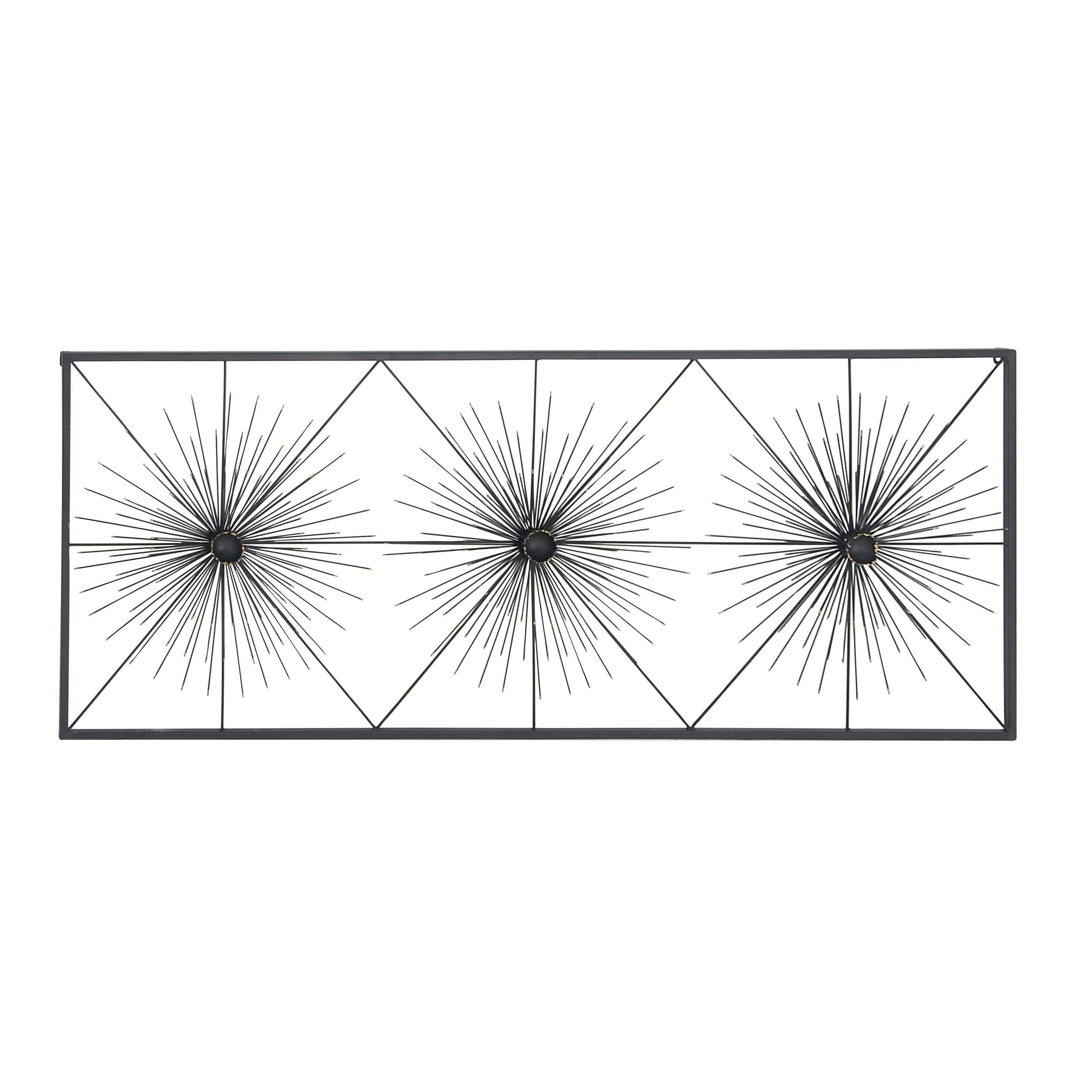 Contemporary Iron Geometric Burst Wall Decor With Contemporary Geometric Wall Decor (View 9 of 30)