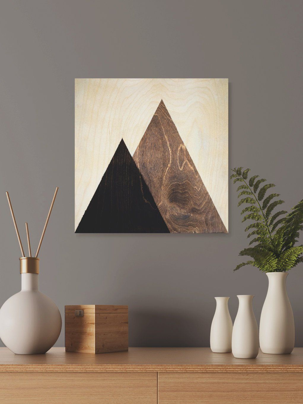 Contemporary Mountain Wall Decor, Dorm Wall Hanging Gift in Contemporary Geometric Wall Decor (Image 10 of 30)
