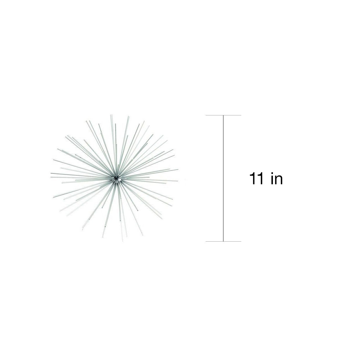 "Contemporary Style 3D Round Silver Metal Starburst Wall Decor Sculptures  Set Of 3 - 6"", 9"", 11"" in Set of 3 Contemporary 6, 9, and 11 Inch Gold Tin Starburst Sculptures (Image 9 of 30)"