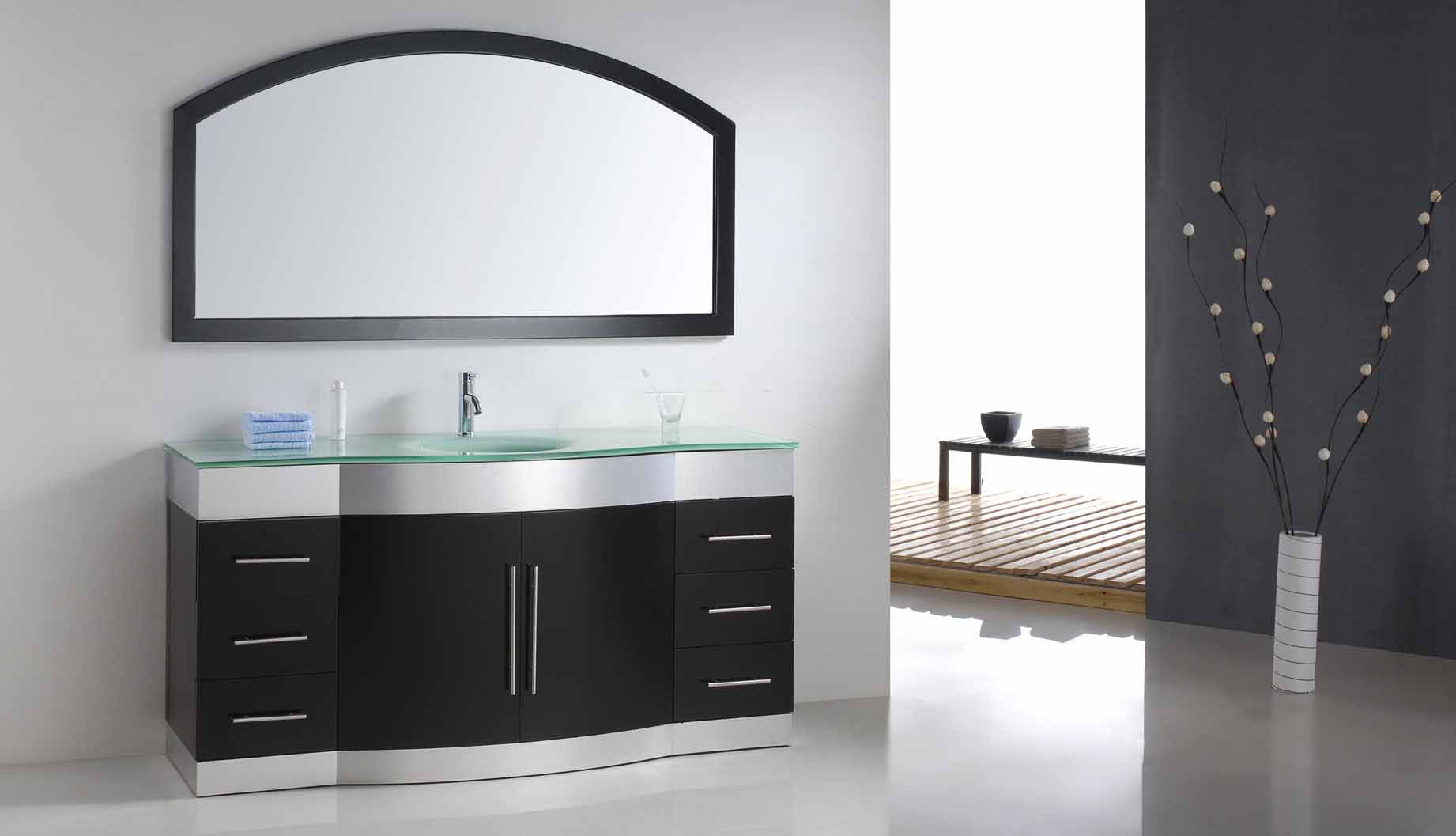 Contessa - Modern Bathroom Vanity Set 71 for Colton Modern & Contemporary Wall Mirrors (Image 11 of 30)