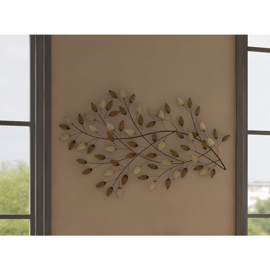 Copper Grove Kitty West Blowing Leaves Wall Decor pertaining to Blowing Leaves Wall Decor (Image 7 of 30)