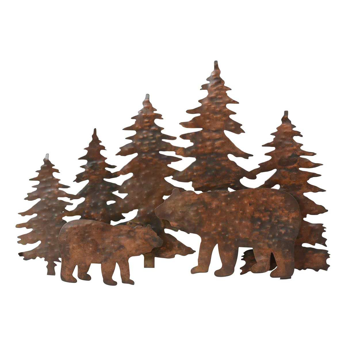 Copper Mountain Bear Metal Wall Art Within Brown Metal Tribal Arrow Wall Decor (View 12 of 30)