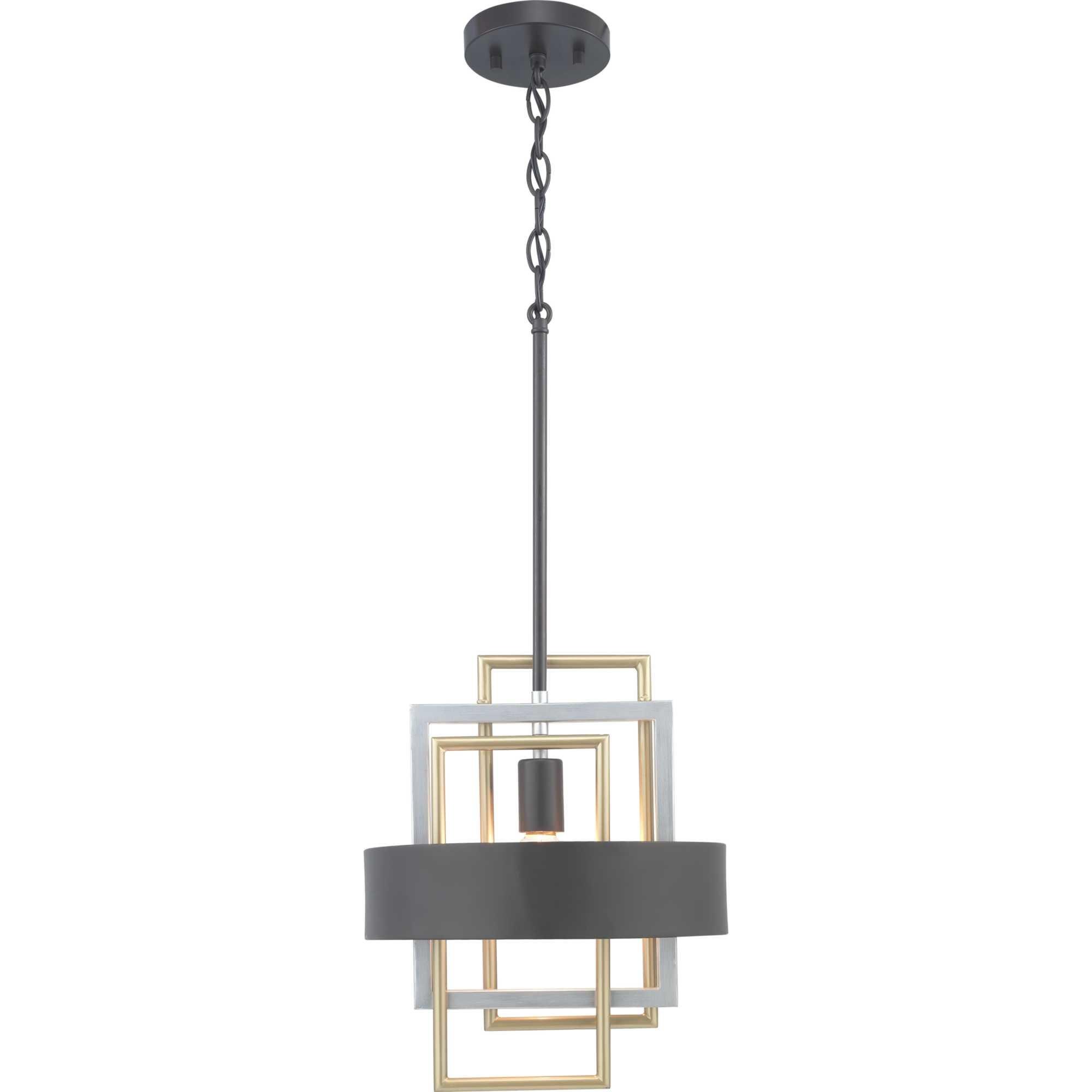 Coralie 1-Light Geometric Pendant in Callington 1-Light Led Single Geometric Pendants (Image 13 of 30)