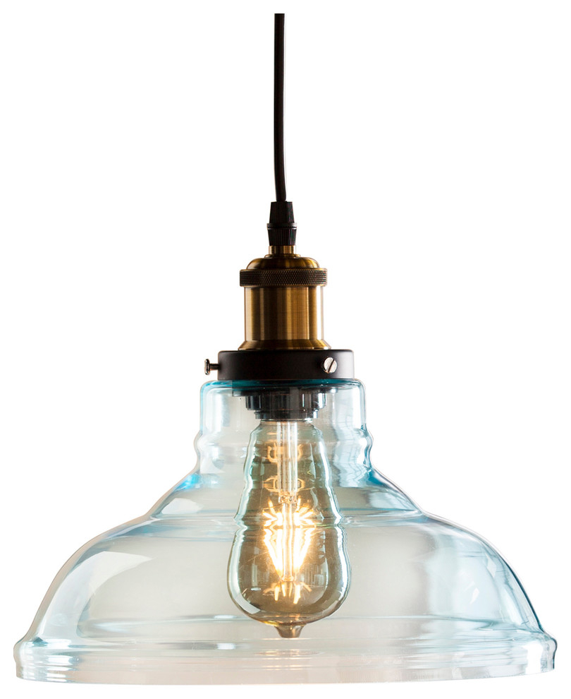 Coraline Colored Glass Bell Pendant Lamp, Soft Aqua Within Gracelyn 8 Light Kitchen Island Pendants (View 20 of 30)